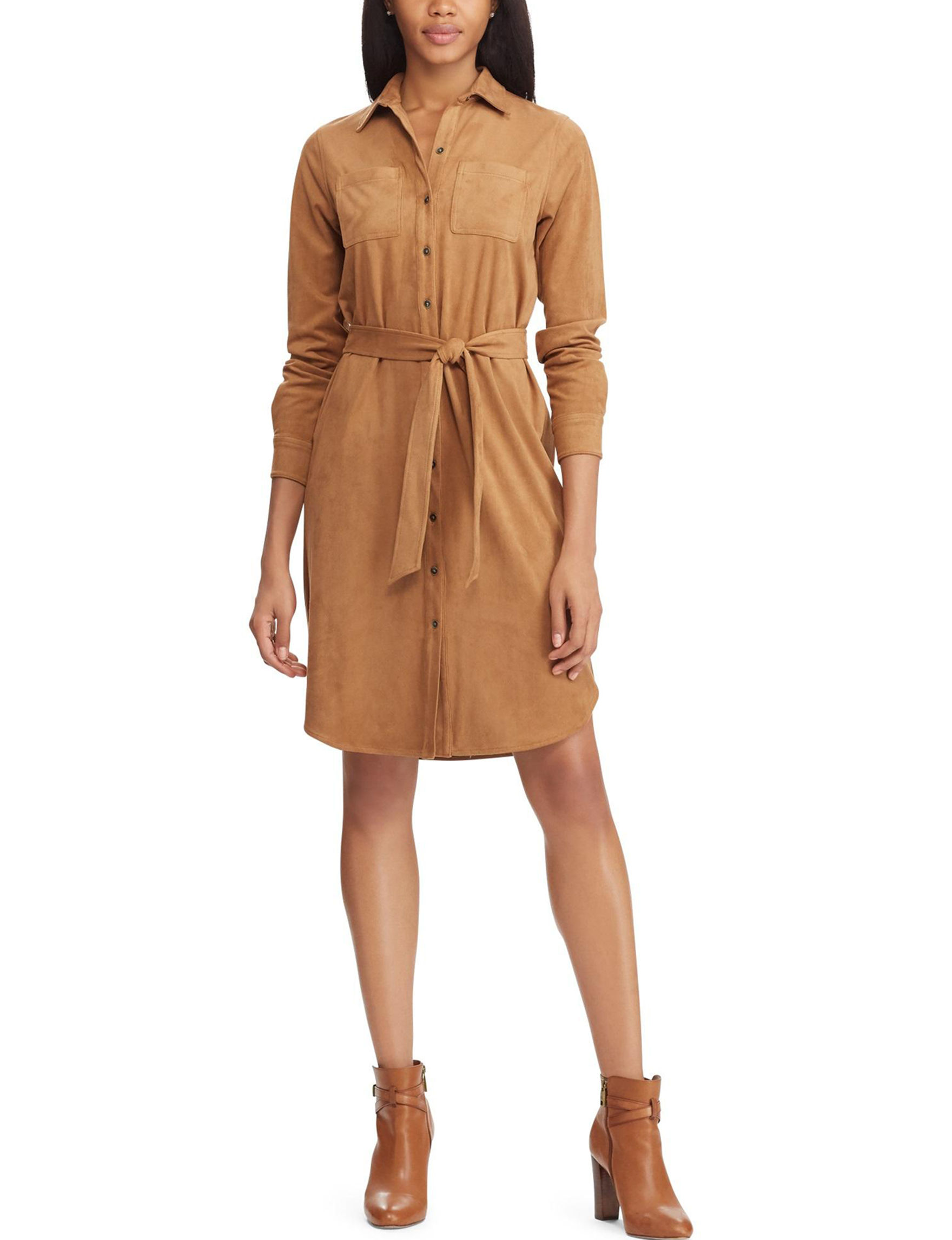 Chaps Brown Everyday & Casual Shirt Dresses