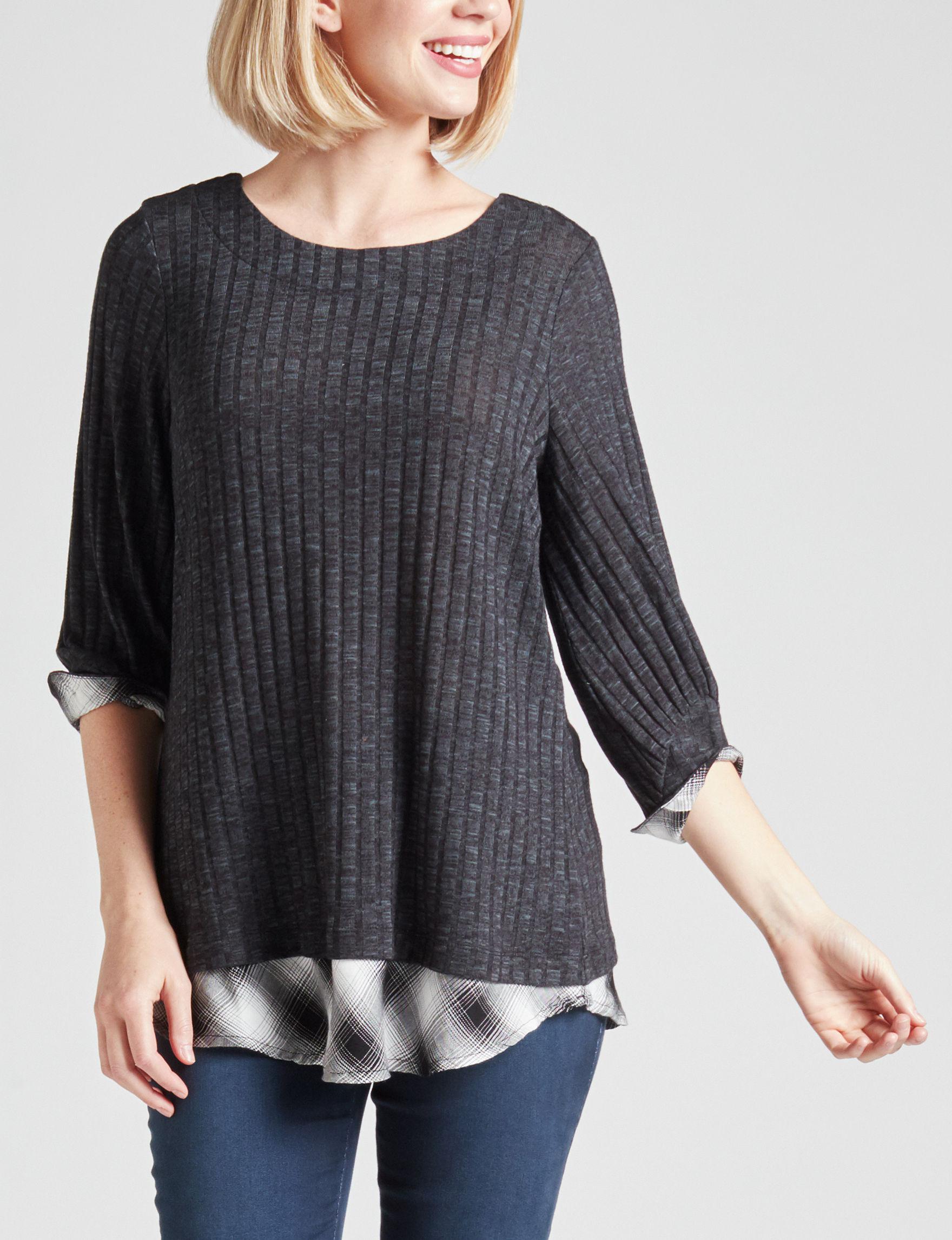 Energe Charcoal Shirts & Blouses