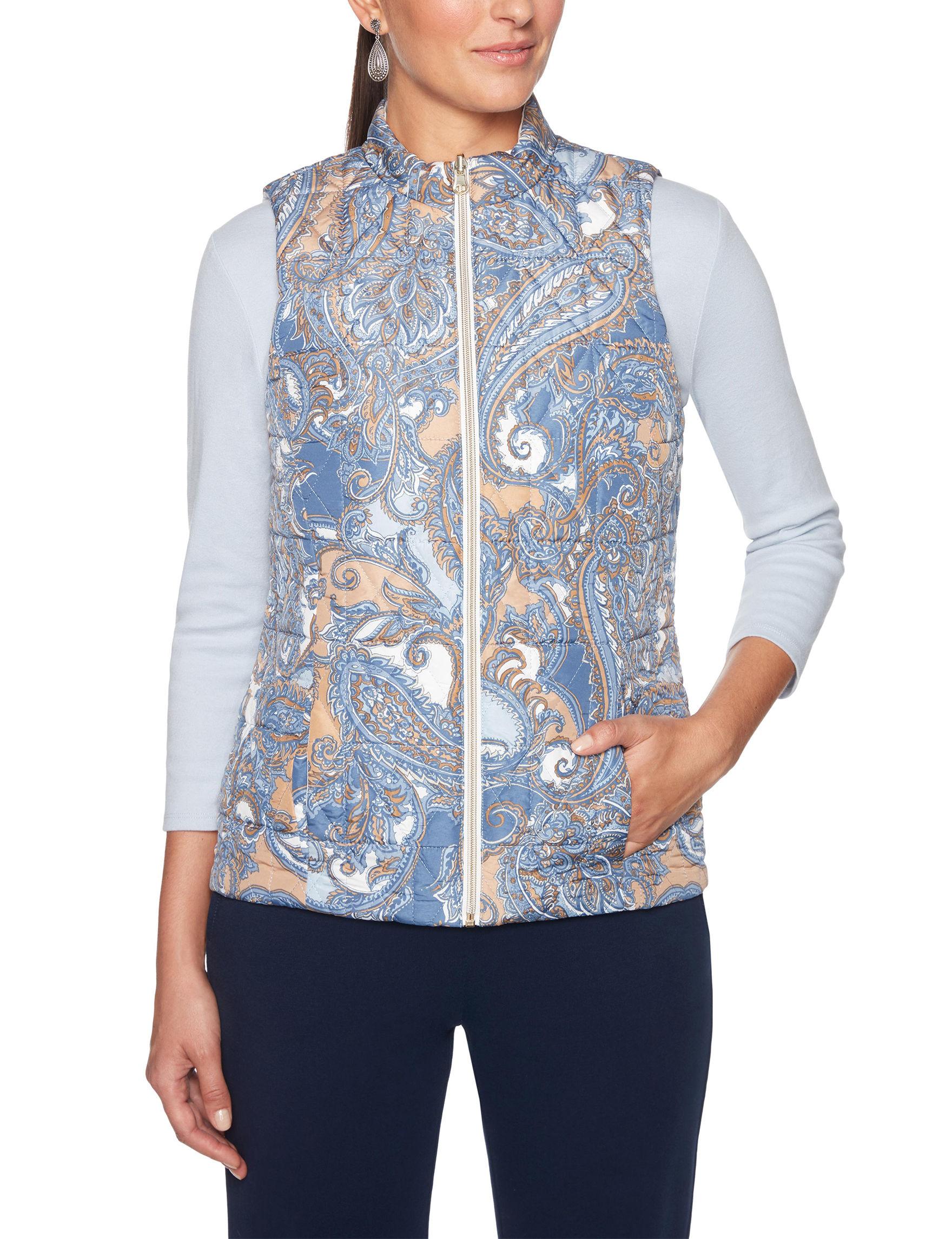 Ruby Road Blue / White Vests