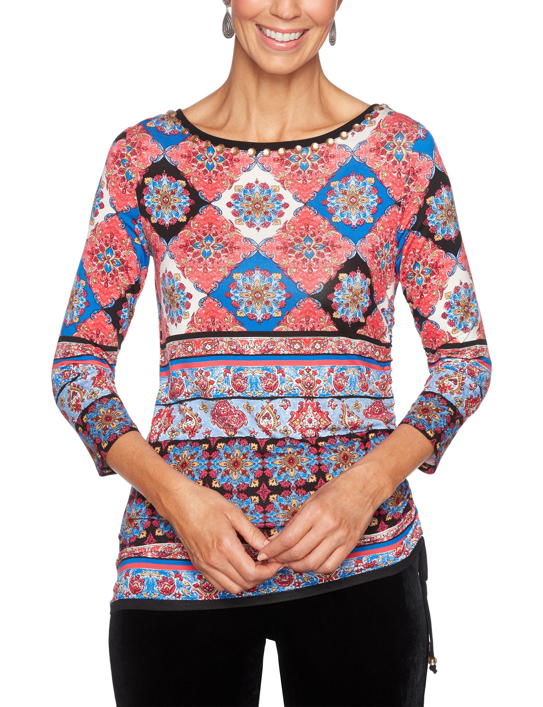 Ruby Road Red / Multi Shirts & Blouses