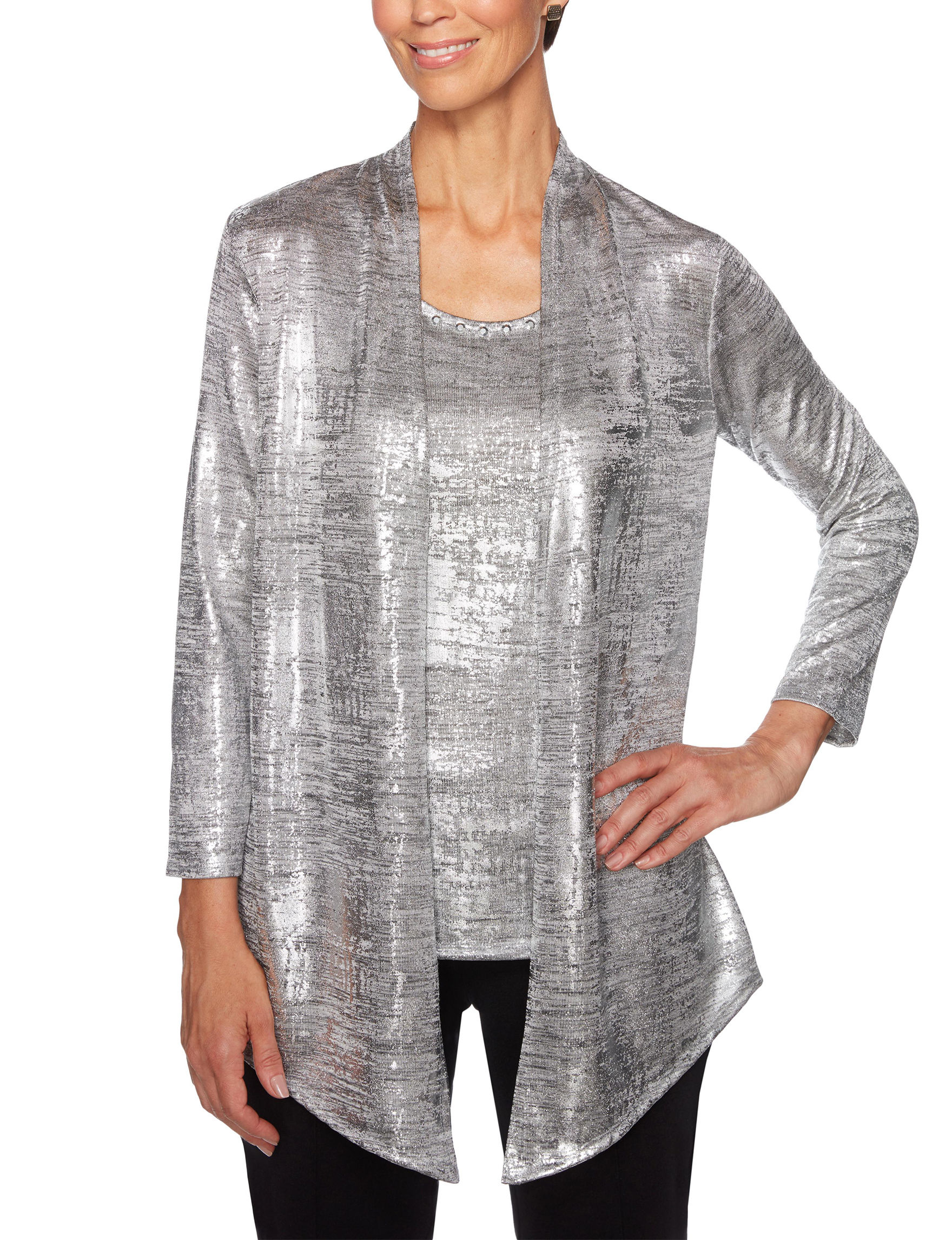 Ruby Road Grey Shirts & Blouses