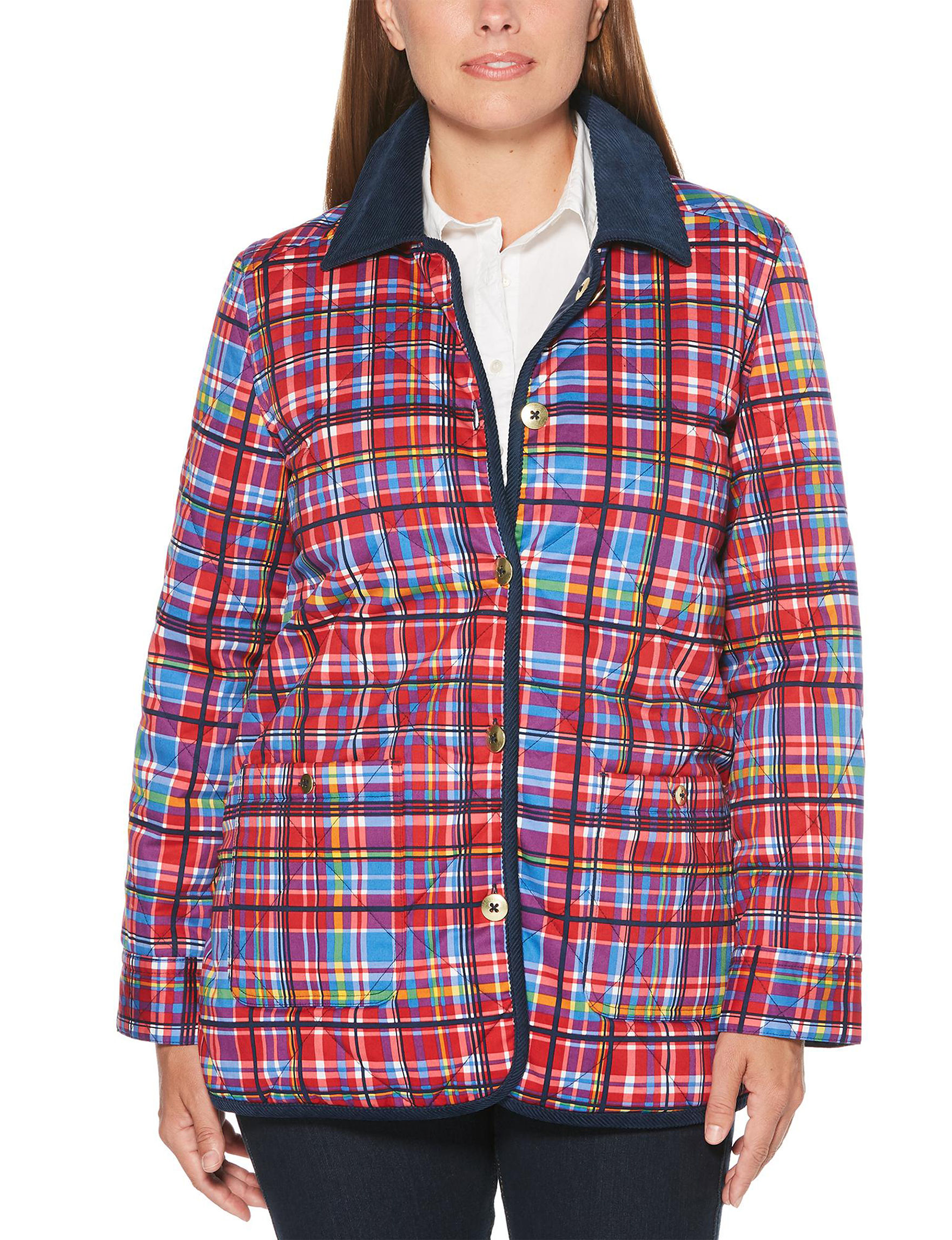 Rafaella Red / Multi Lightweight Jackets & Blazers
