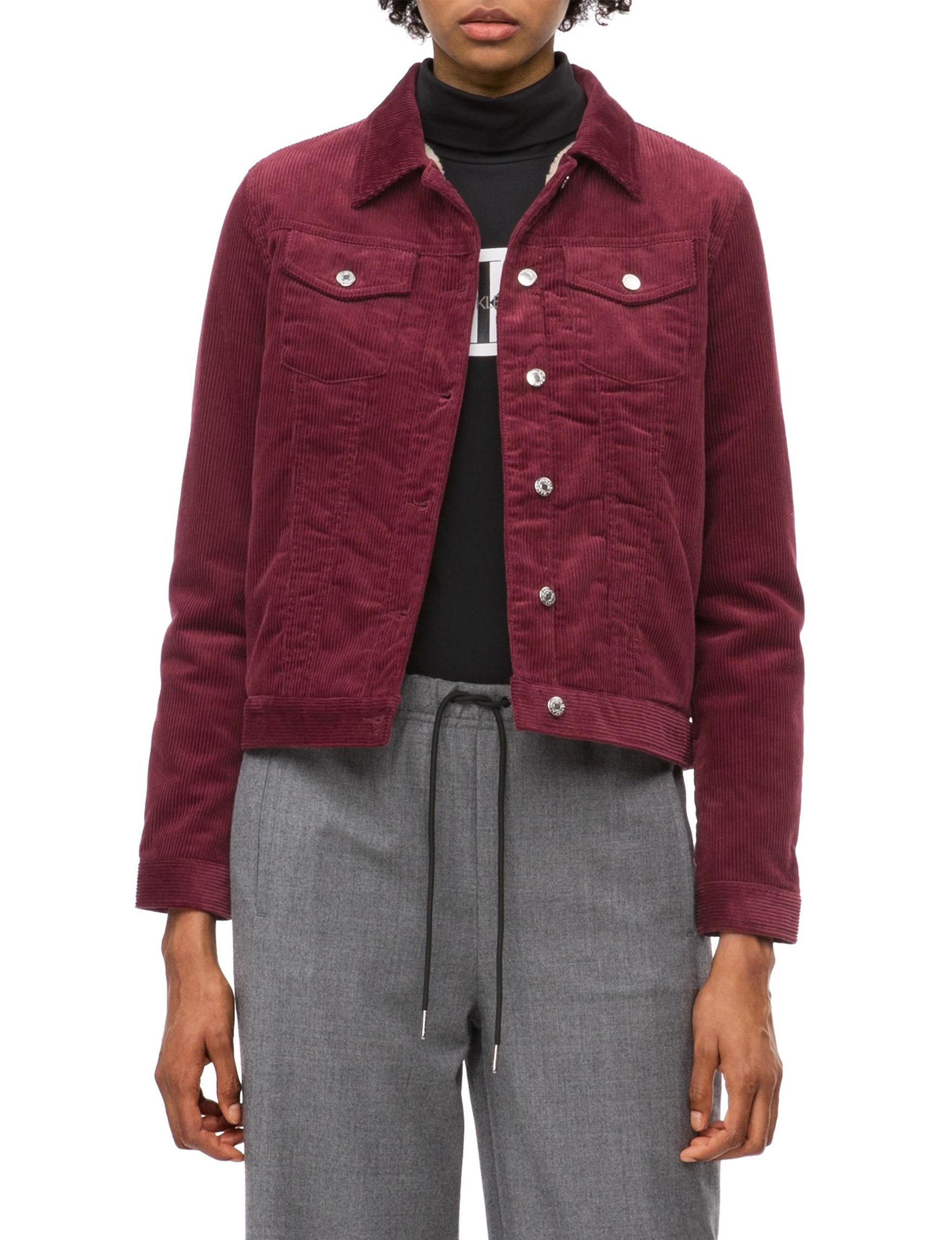 Calvin Klein Jeans Burgundy Lightweight Jackets & Blazers