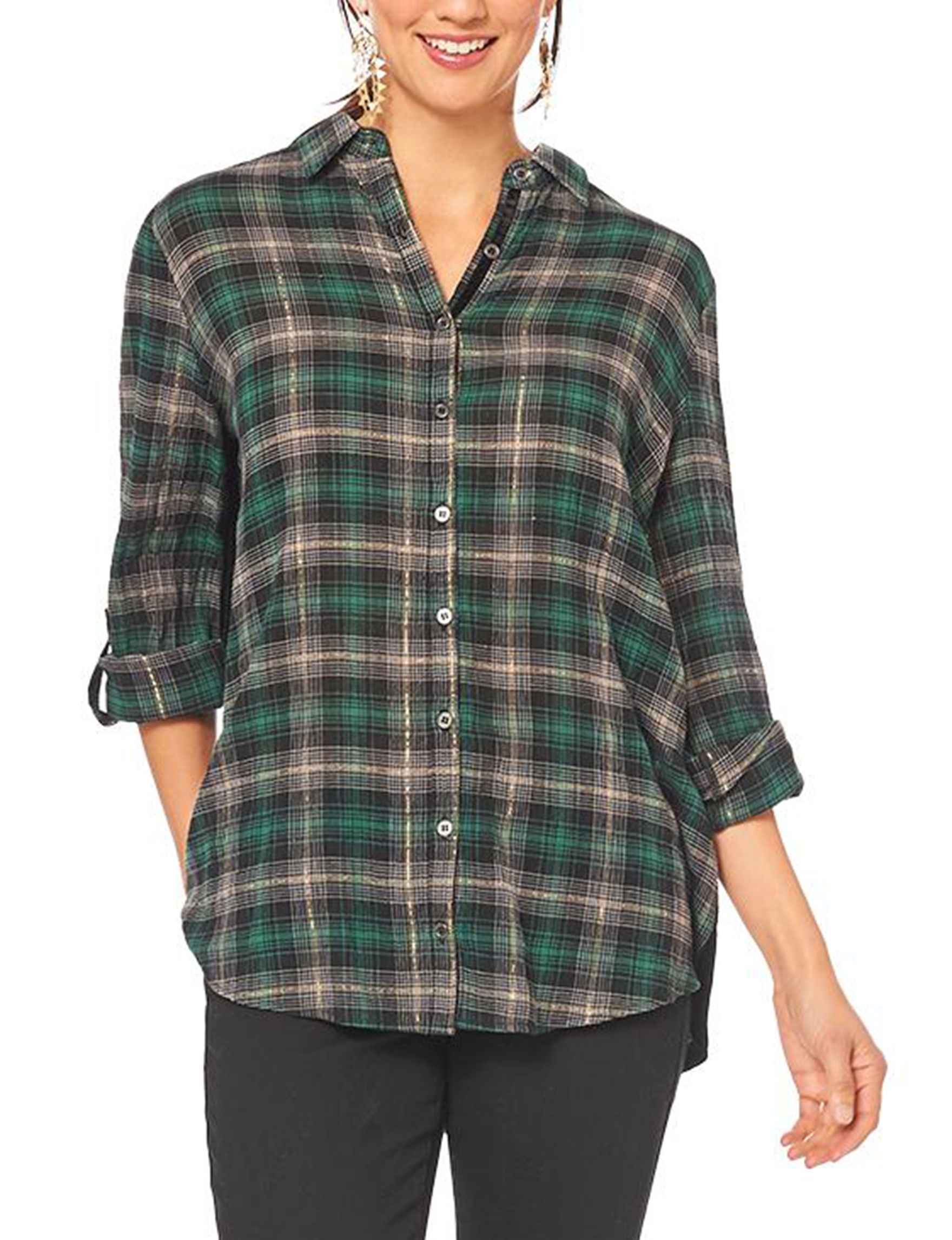 Democracy Green / Multi Shirts & Blouses