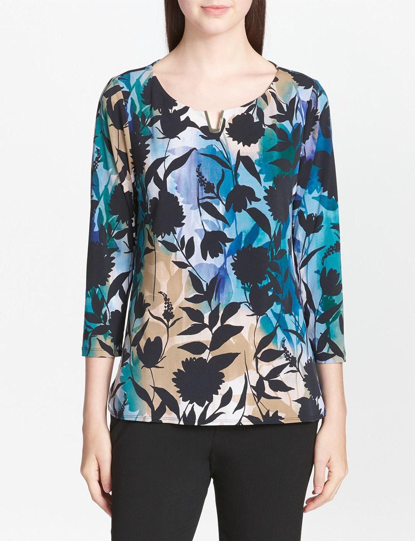 Calvin Klein Green / Multi Shirts & Blouses