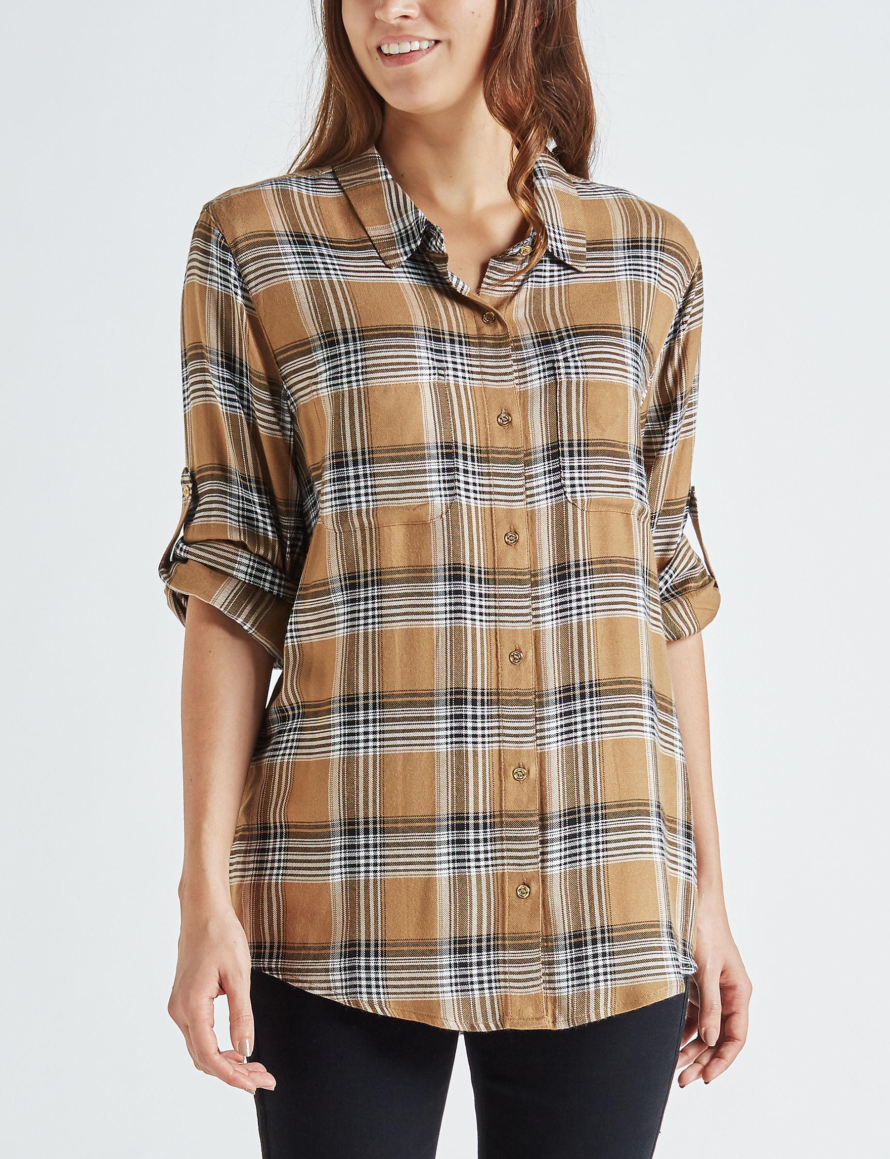 Calvin Klein Brown Shirts & Blouses