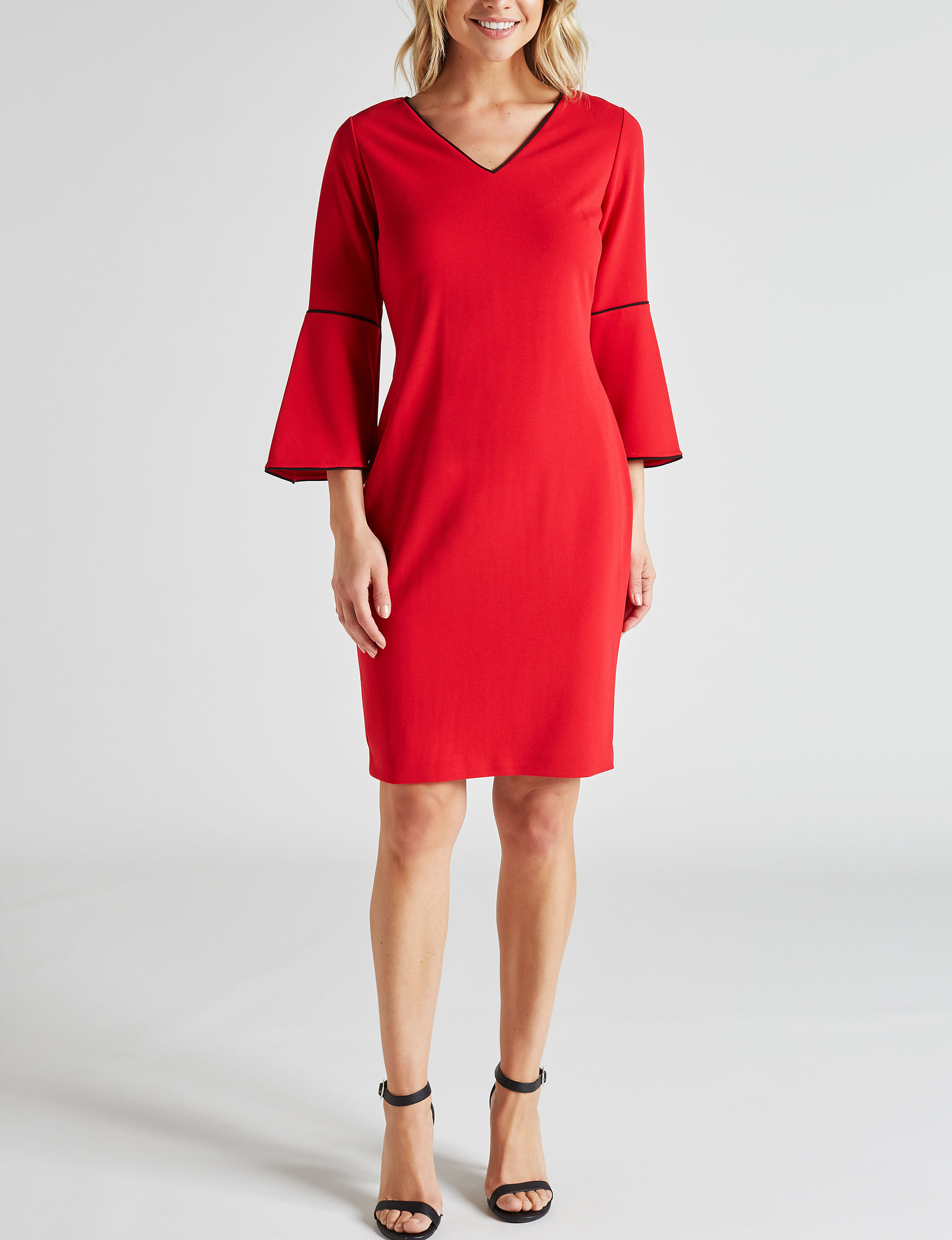 Calvin Klein Red Everyday & Casual Shift Dresses