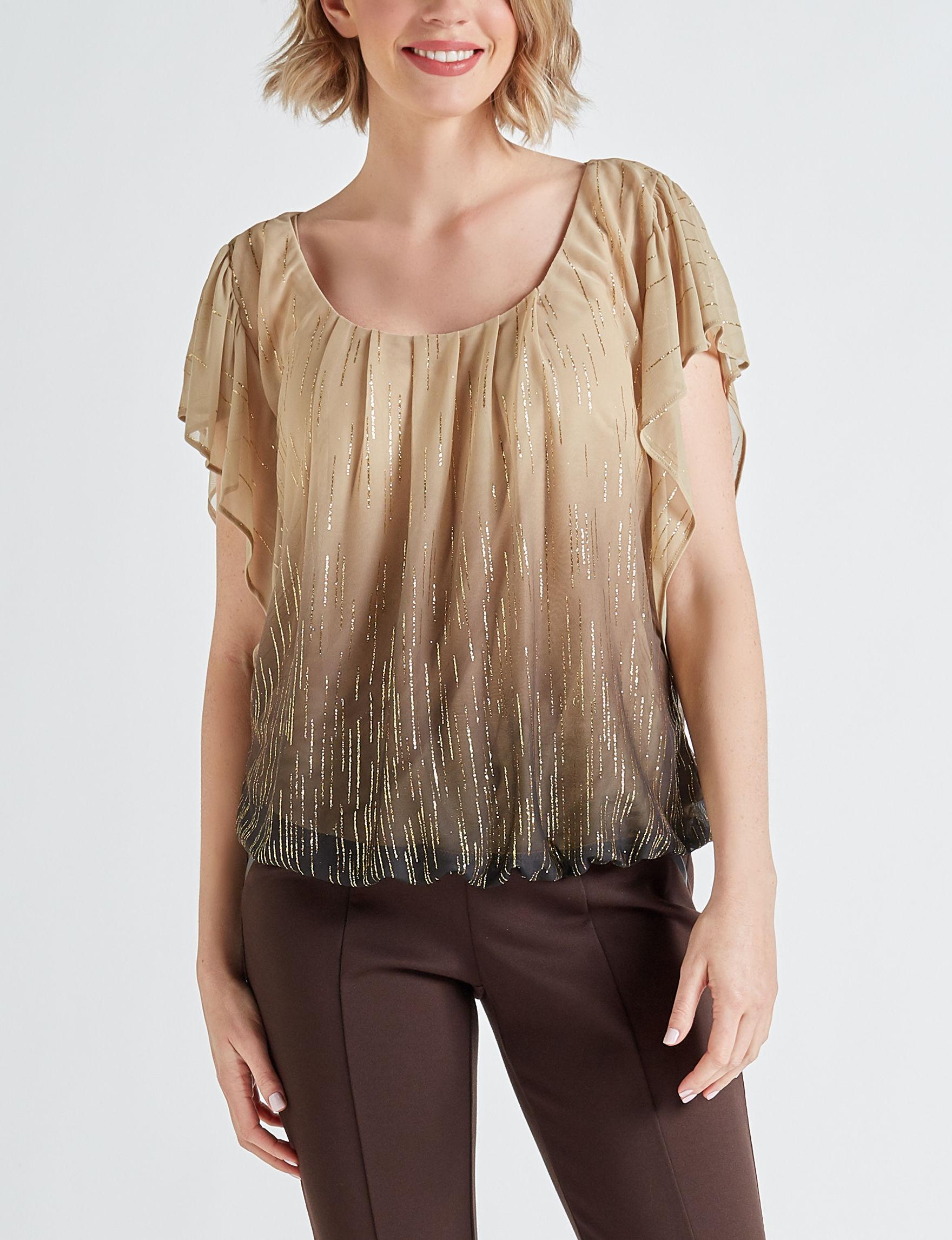 Sara Michelle Gold Shirts & Blouses