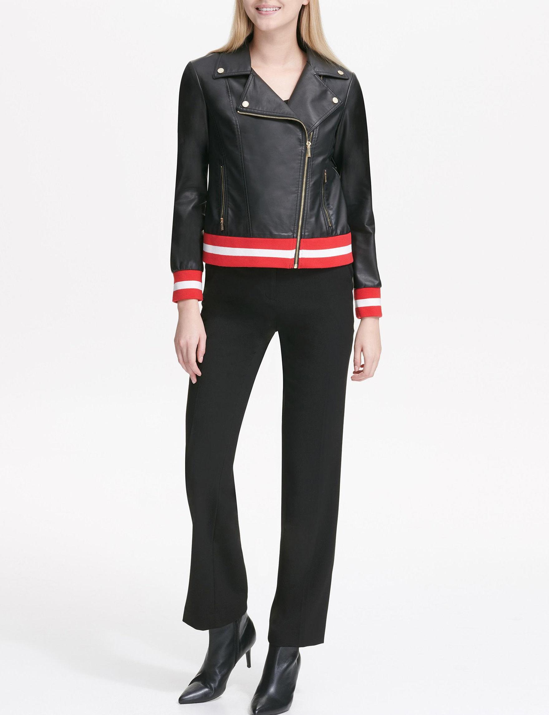 Calvin Klein Black / Red / White Lightweight Jackets & Blazers