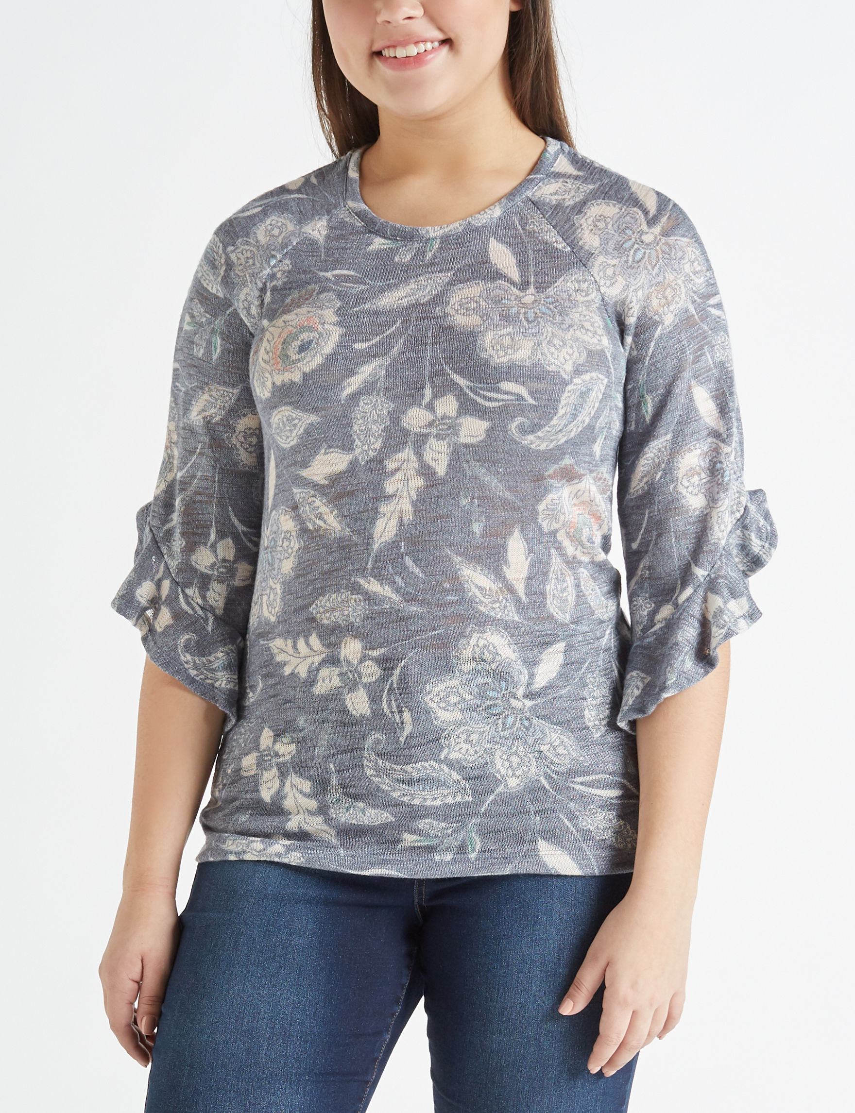 Hannah Blue Shirts & Blouses