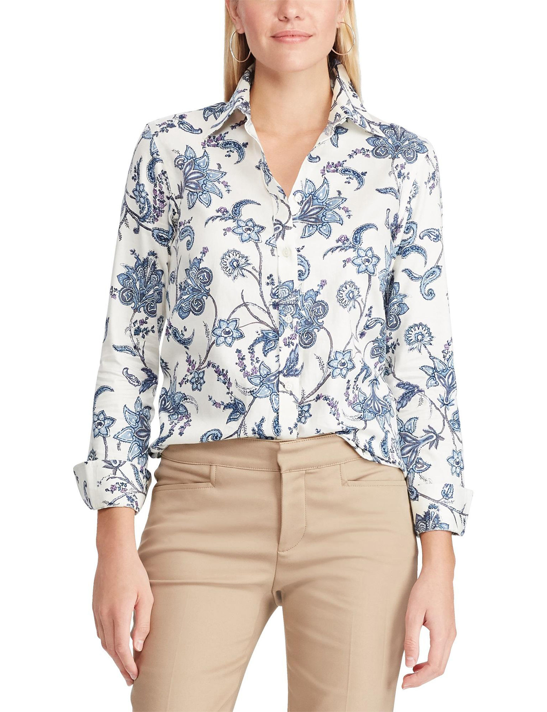 Chaps Beige Shirts & Blouses