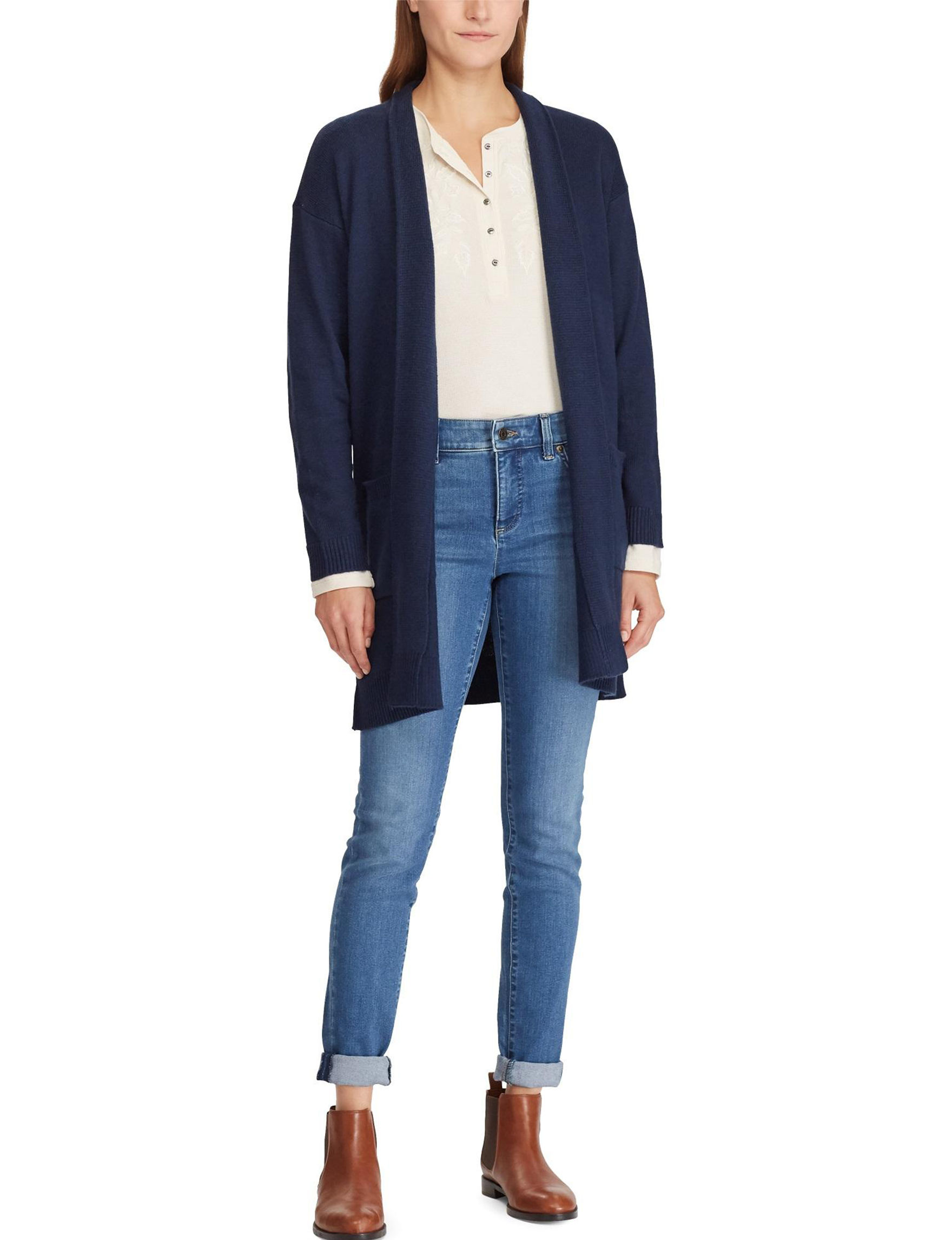 Chaps Navy Cardigans