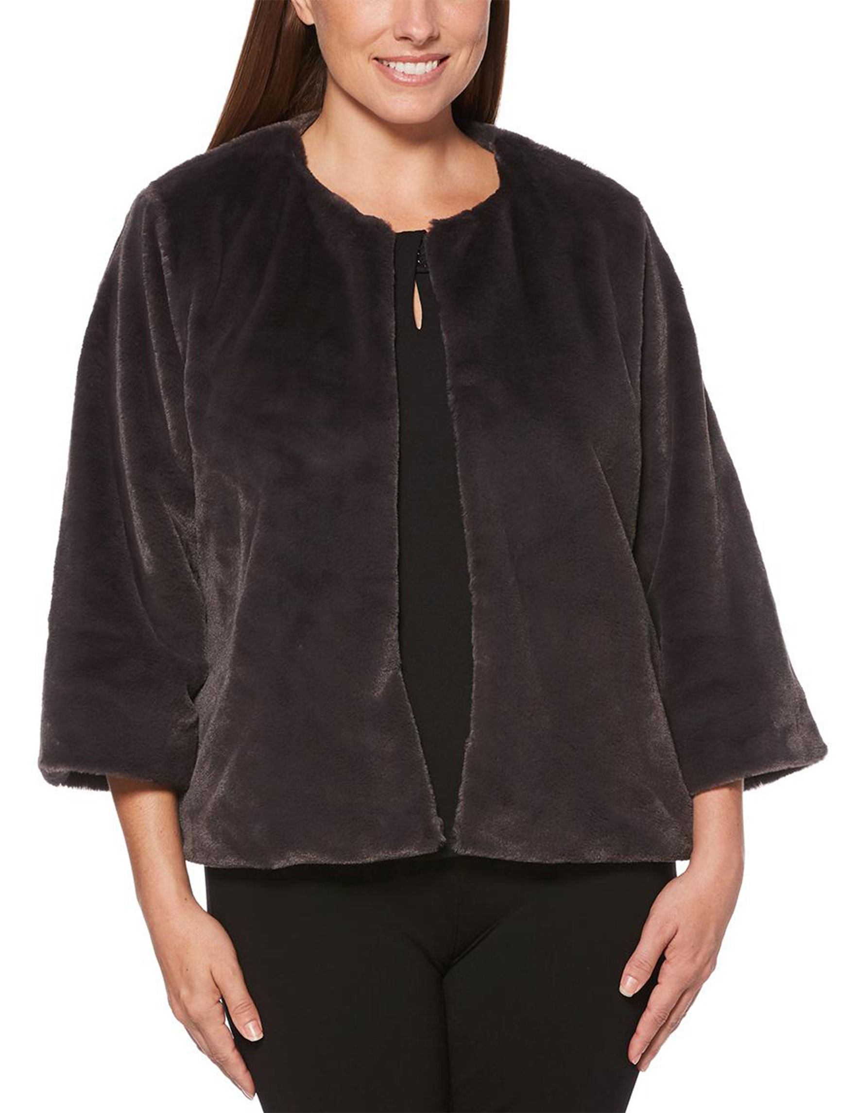 Rafaella Charcoal Lightweight Jackets & Blazers