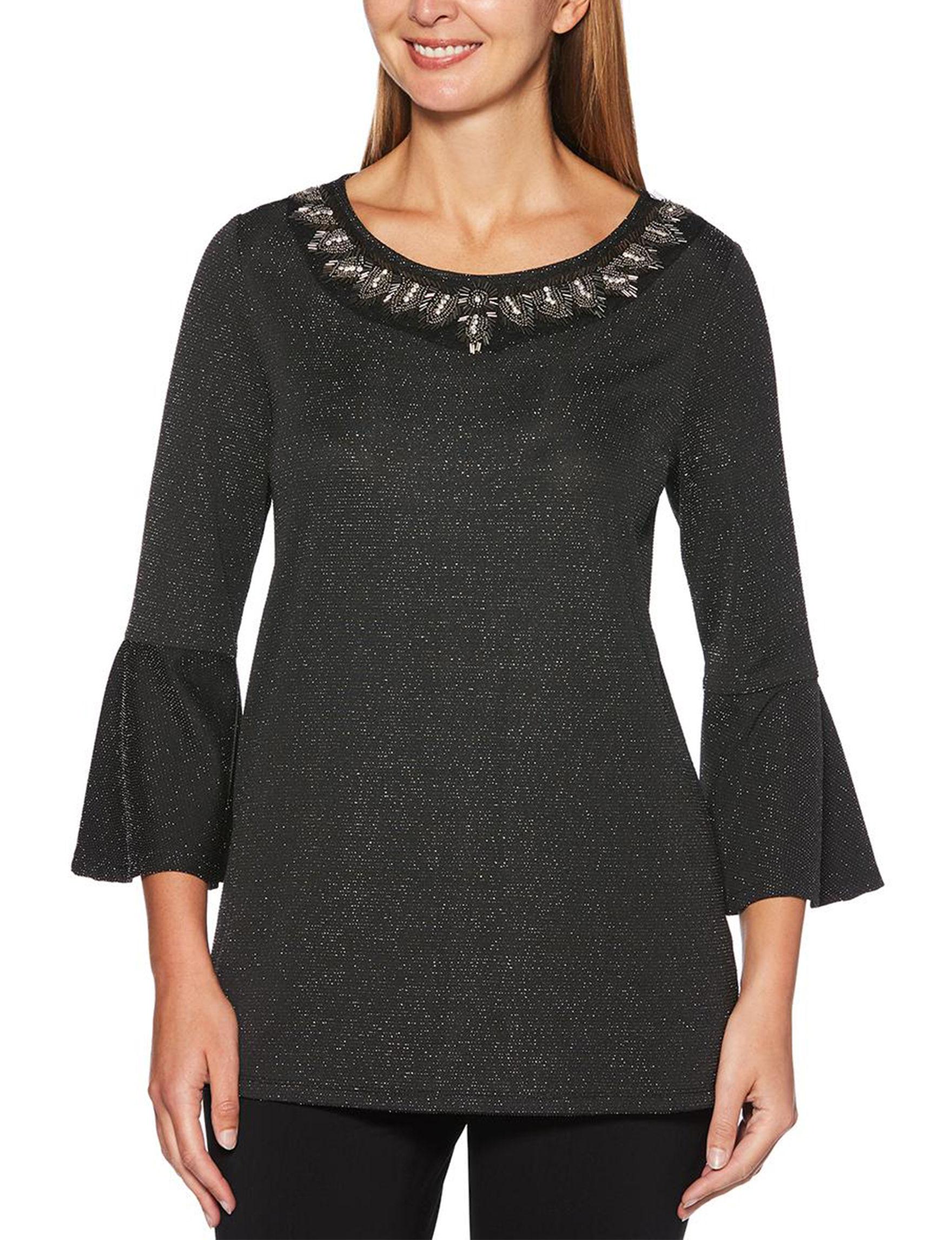 Rafaella Black / Silver Shirts & Blouses