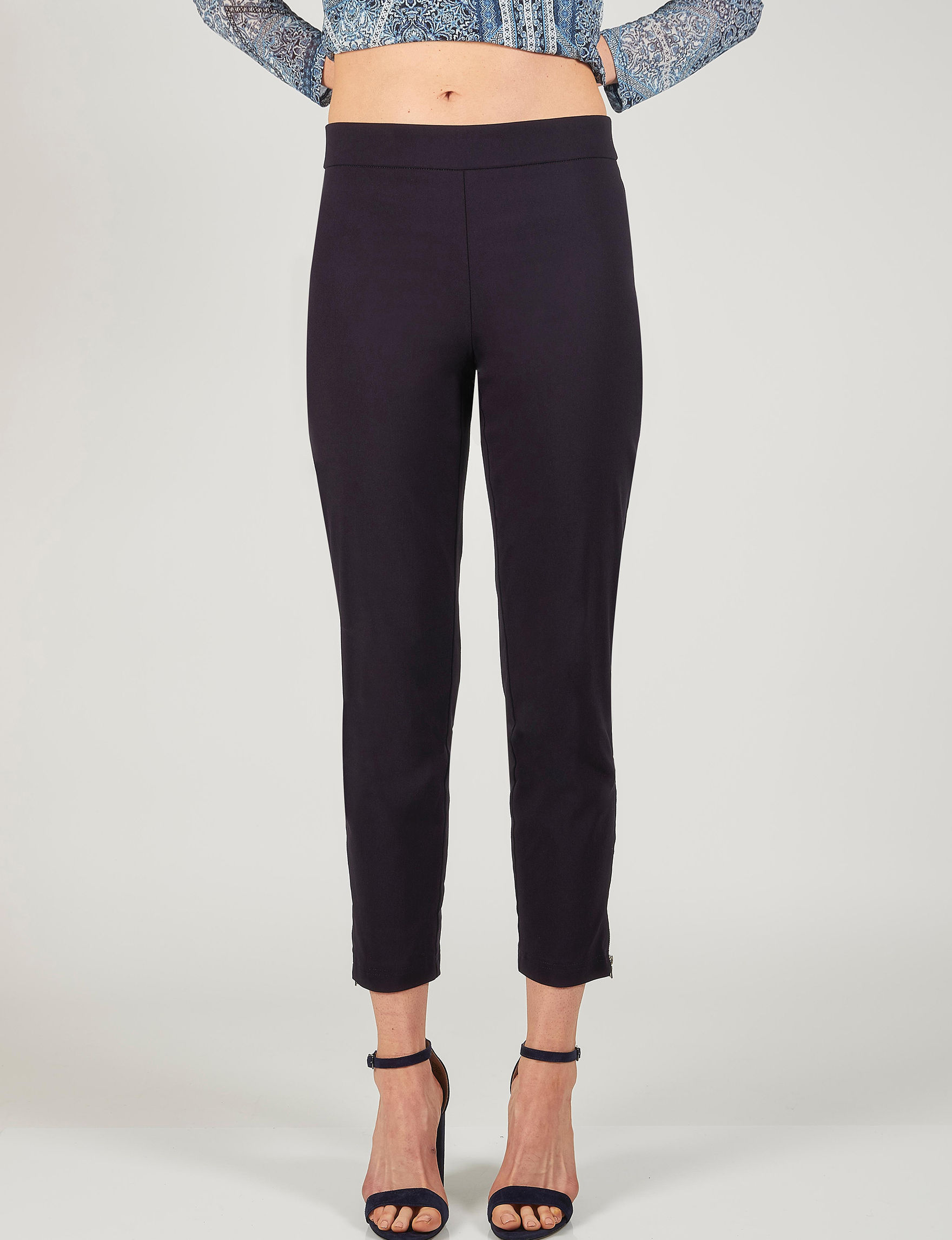 Skyes The Limit Navy Capris & Crops Soft Pants