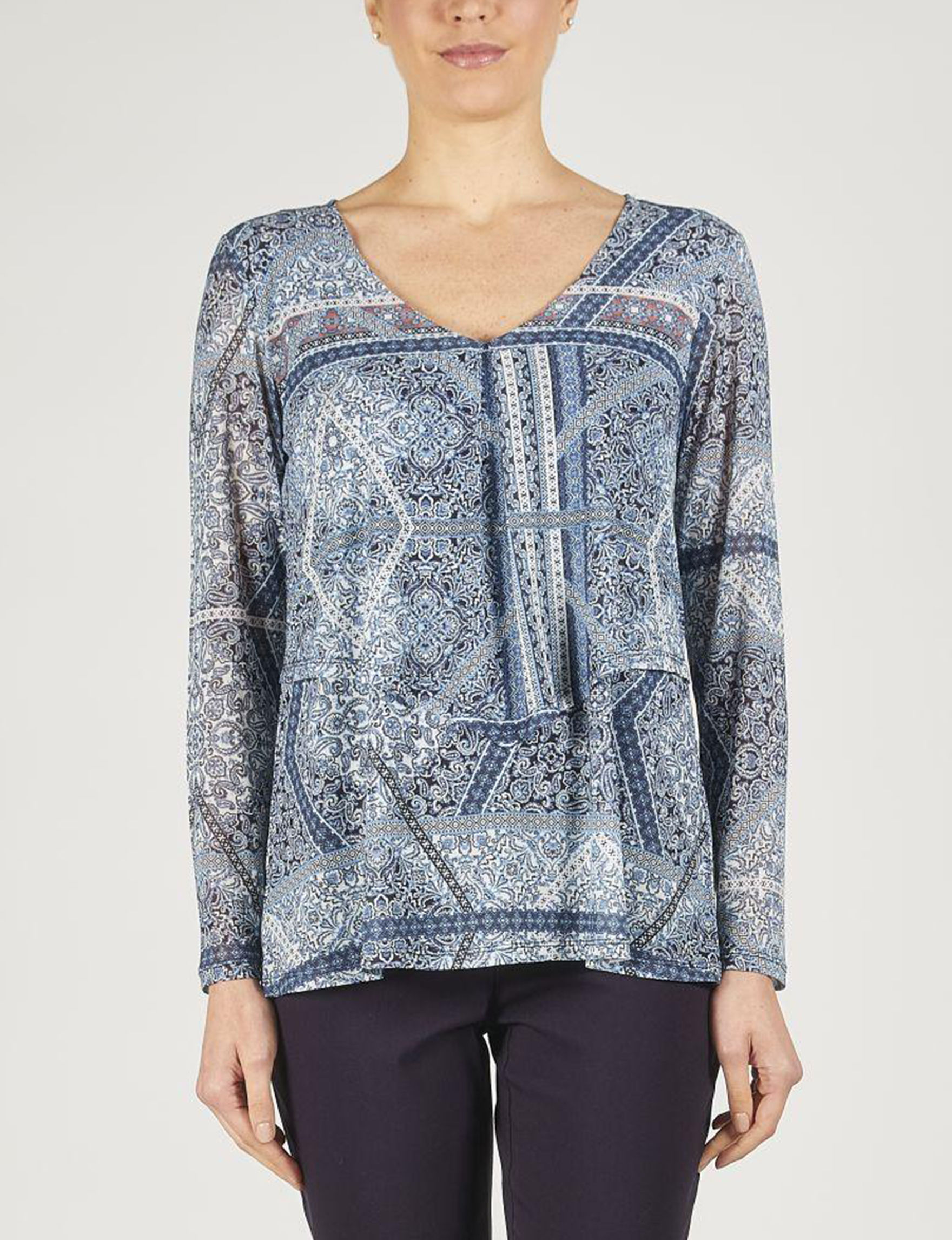 Skyes The Limit Blue / Multi Shirts & Blouses