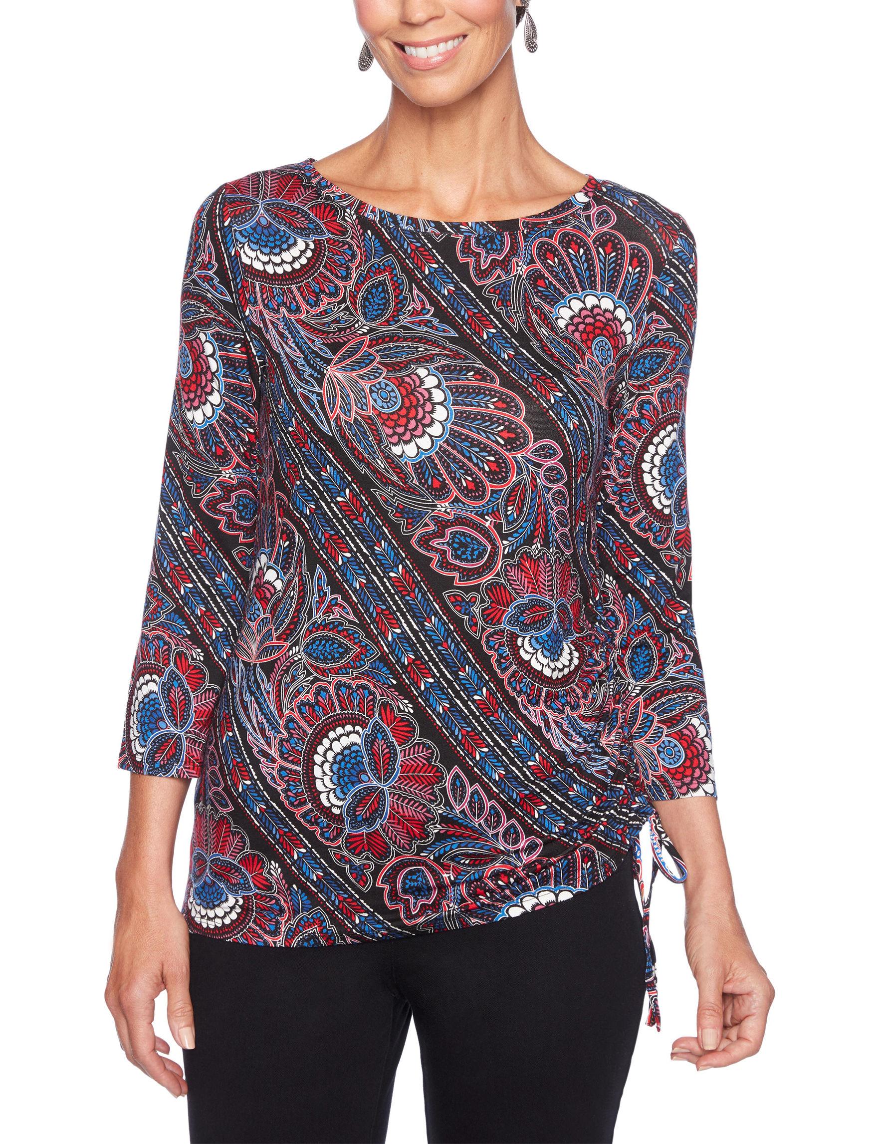 Ruby Road Black / Multi Shirts & Blouses