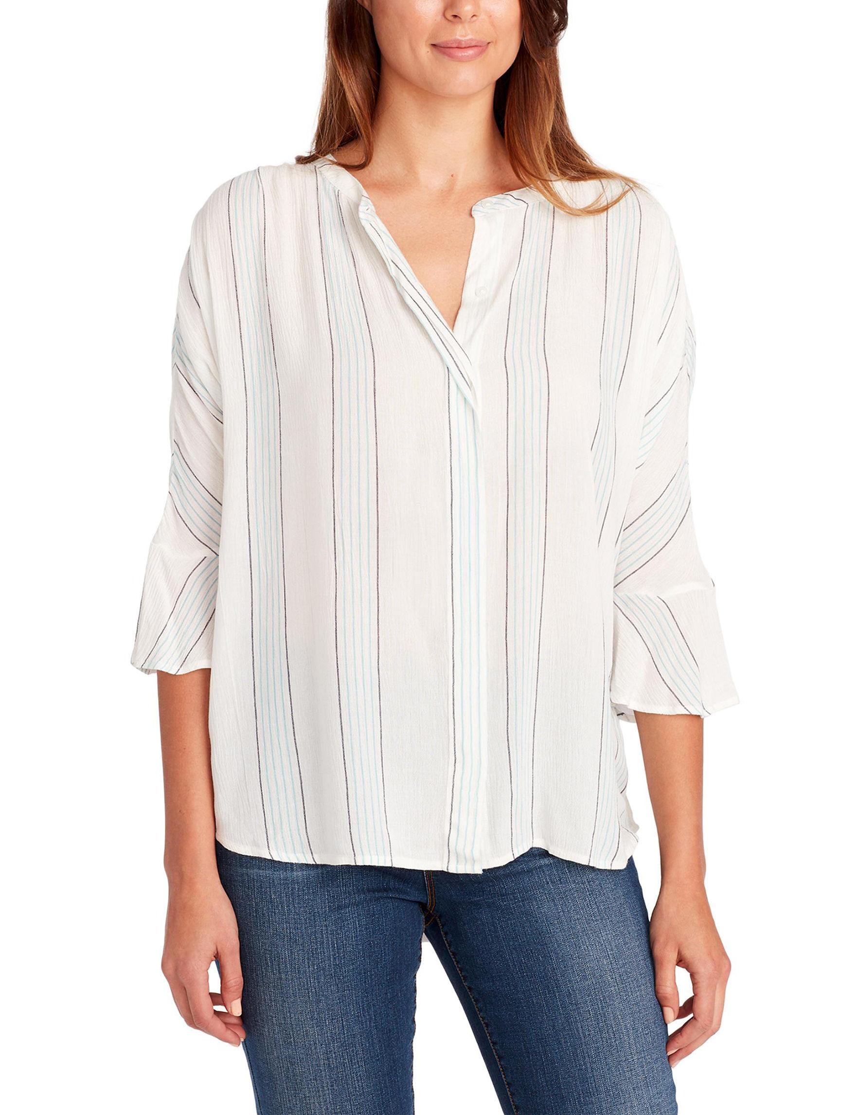 Nine West White Shirts & Blouses