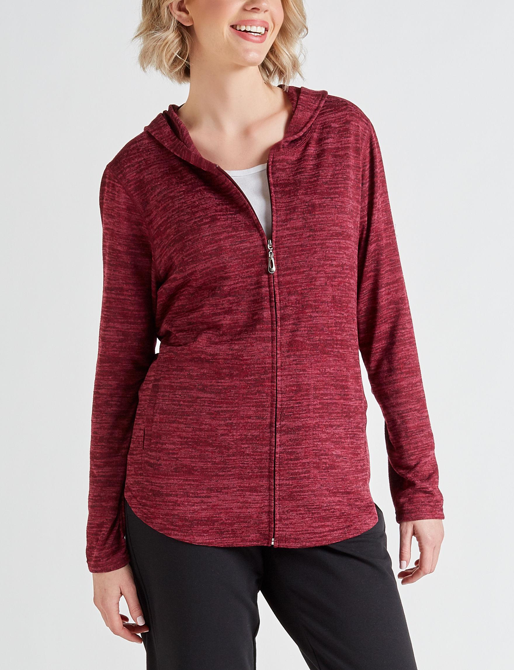 Cathy Daniels Burgundy Lightweight Jackets & Blazers Shirts & Blouses