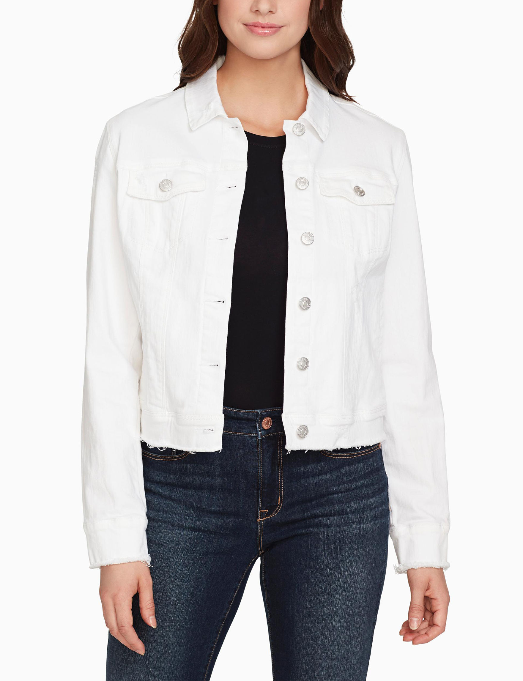 Nine West White Denim Jackets