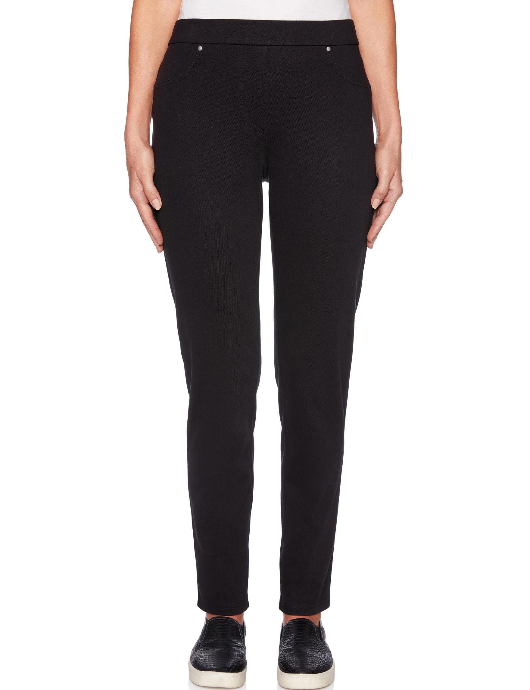 Ruby Road Black Soft Pants Straight