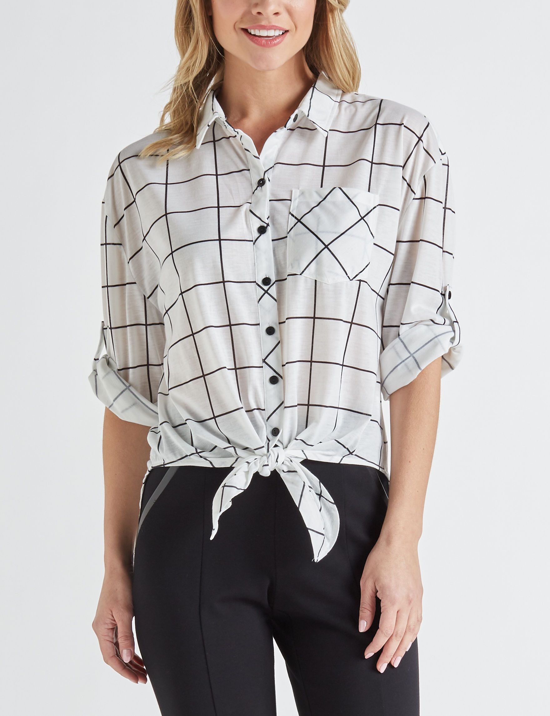 Eden & Olivia White Shirts & Blouses