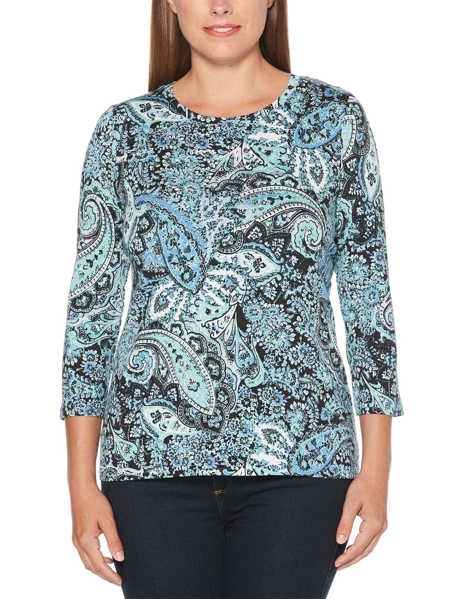 Rafaella Blue Shirts & Blouses Tees & Tanks