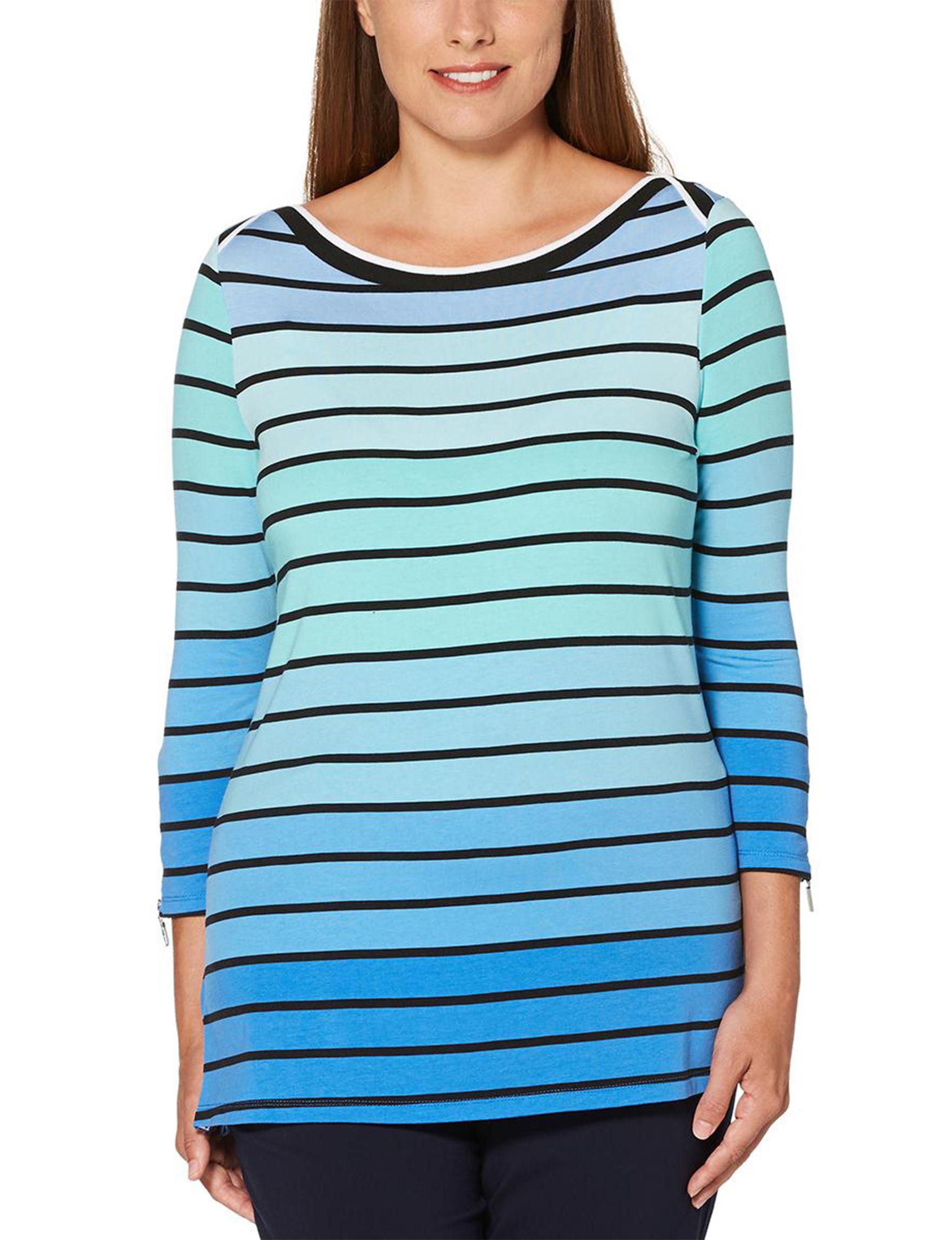 Rafaella Turquoise Shirts & Blouses Tunics