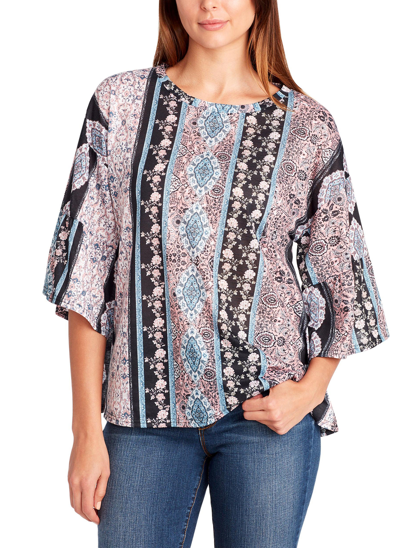Nine West Pink Multi Shirts & Blouses