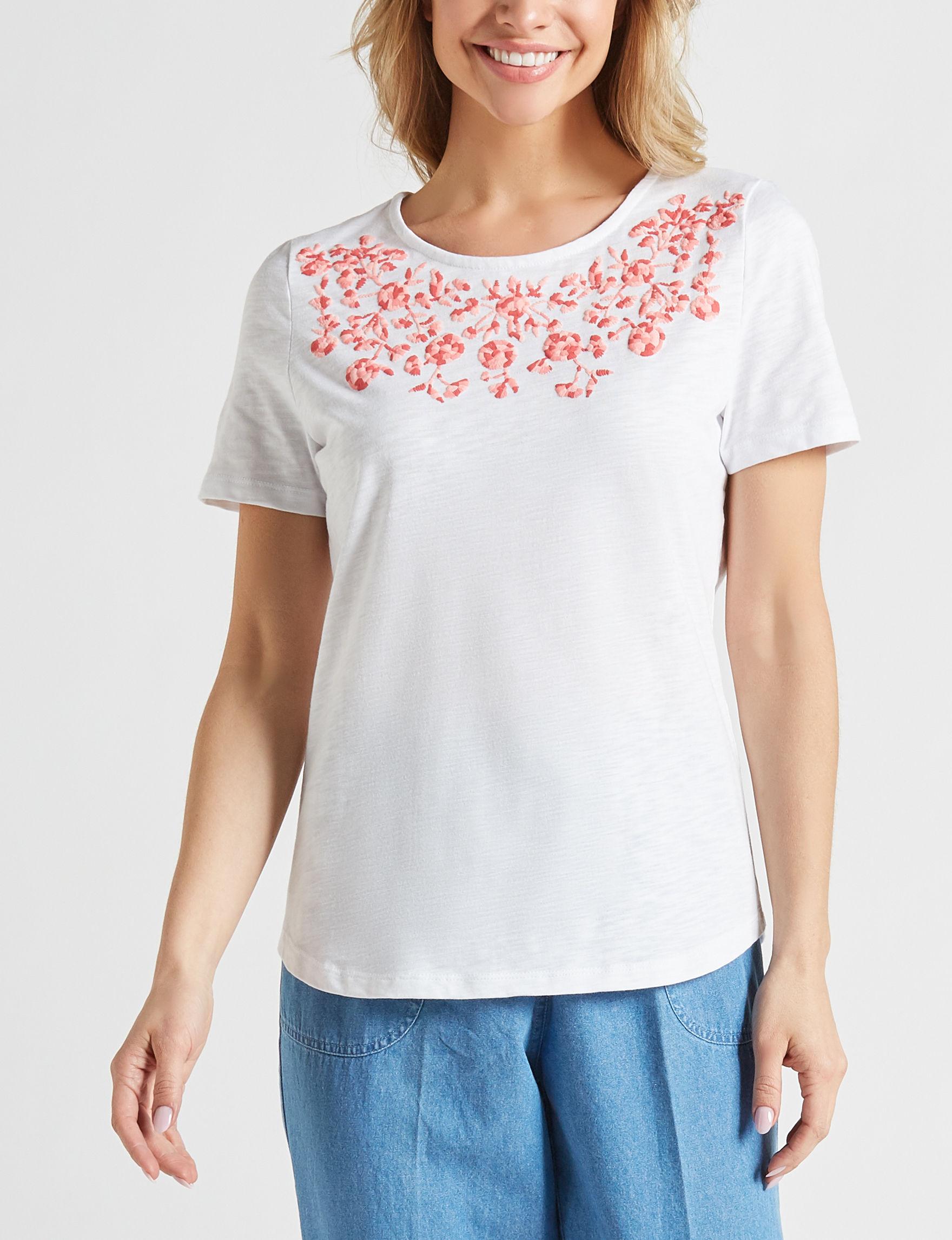 Rebecca Malone White / Pink Shirts & Blouses