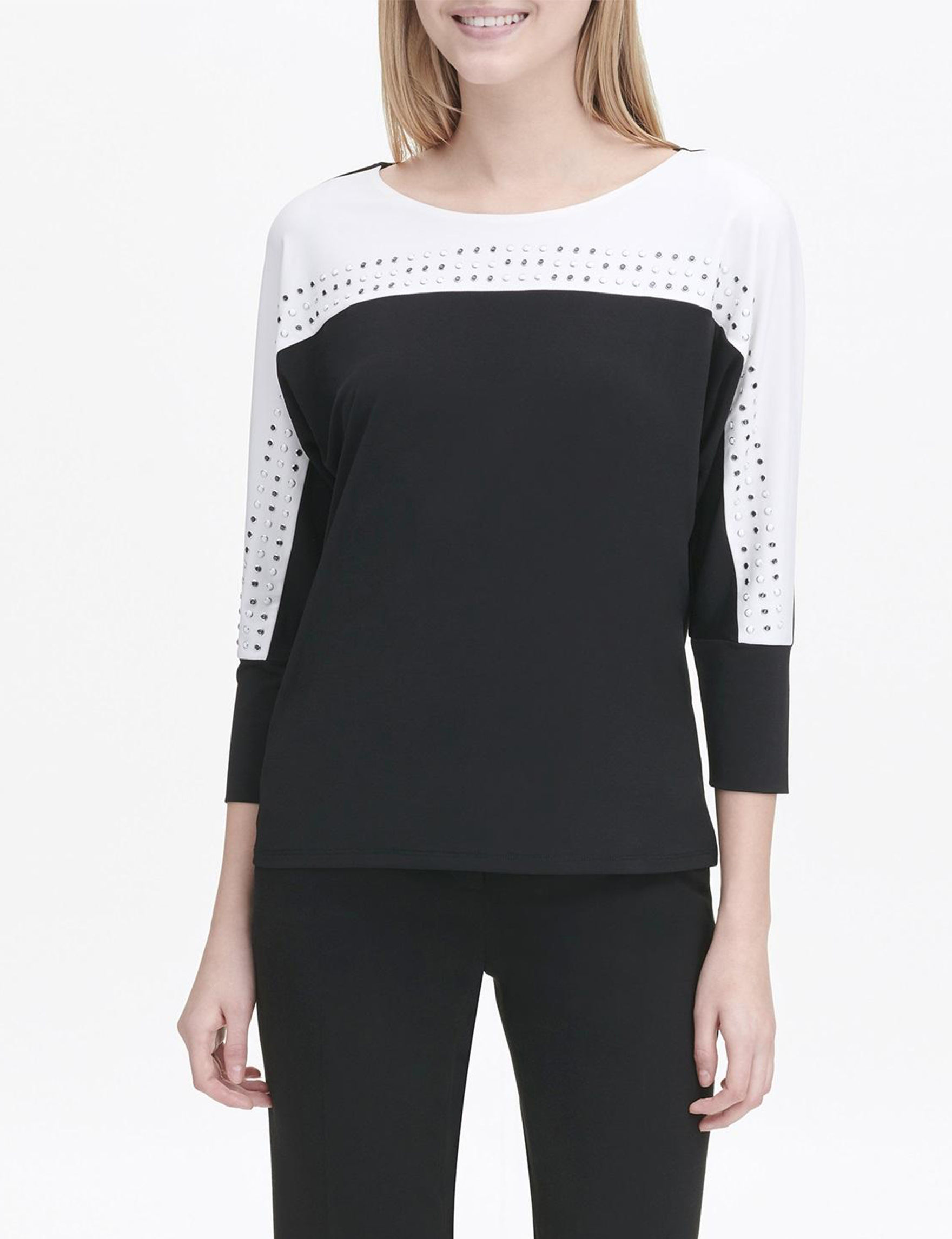 Calvin Klein Black/ White Shirts & Blouses