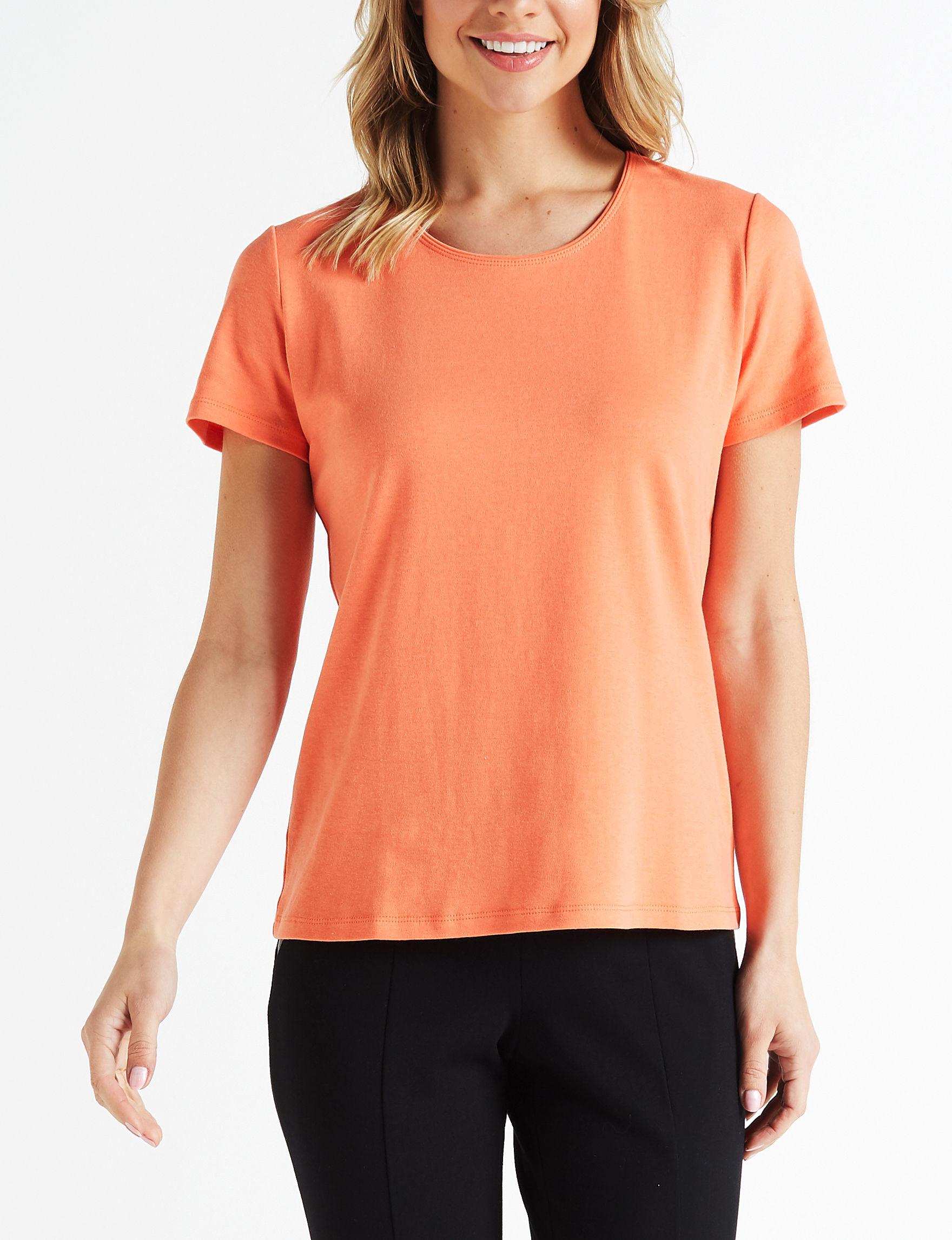 Rebecca Malone Orange Shirts & Blouses Tees & Tanks