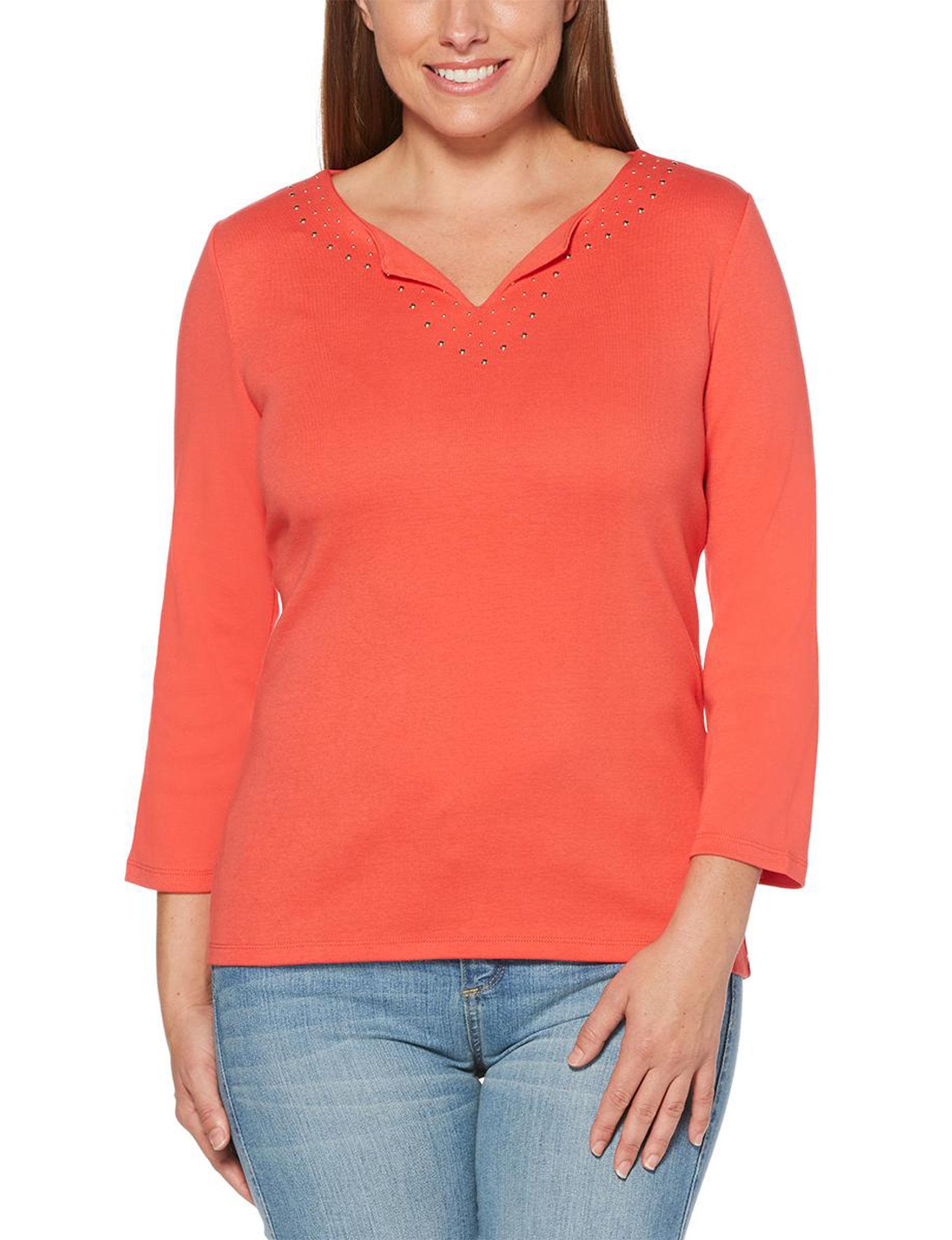 Rafaella Hibiscus Shirts & Blouses