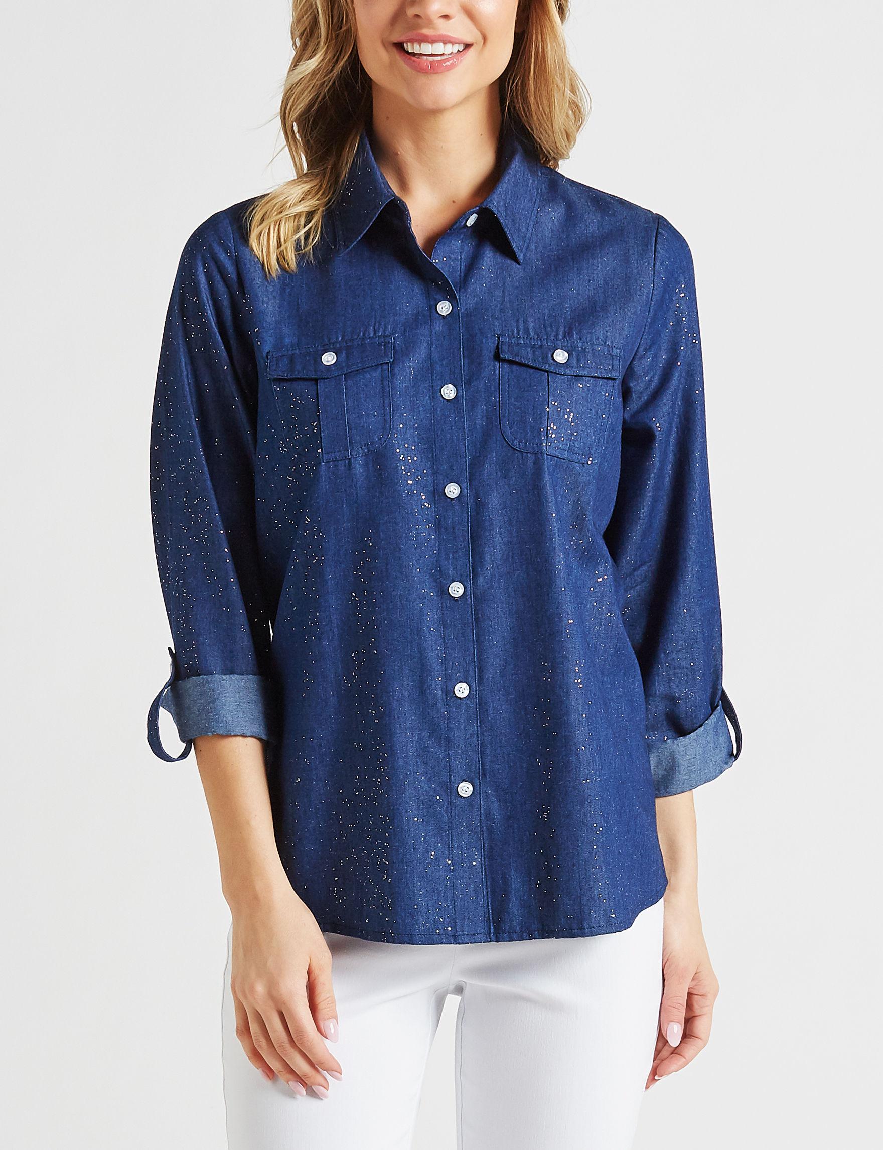 Cathy Daniels Denim Shirts & Blouses