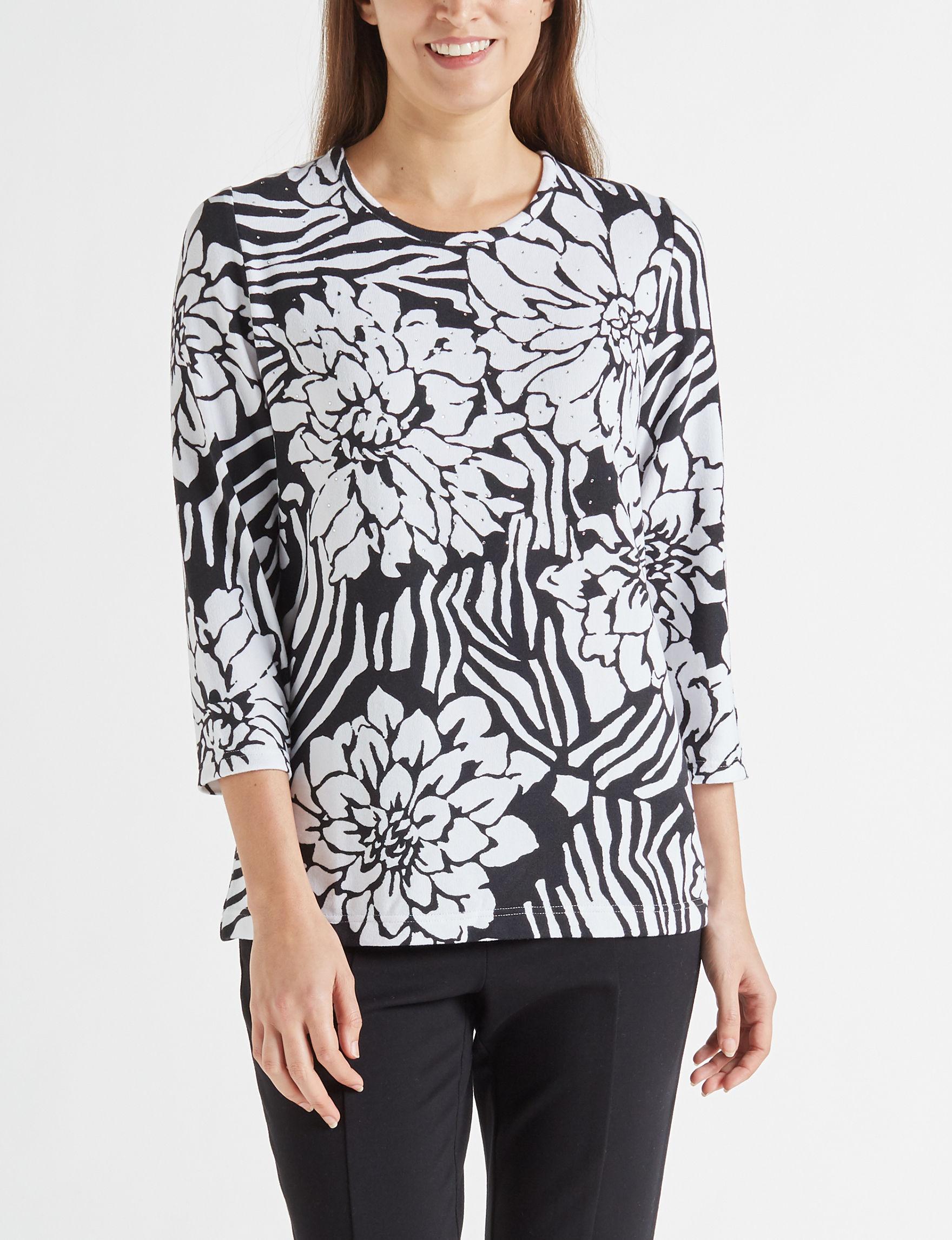 Rebecca Malone Black / White Shirts & Blouses
