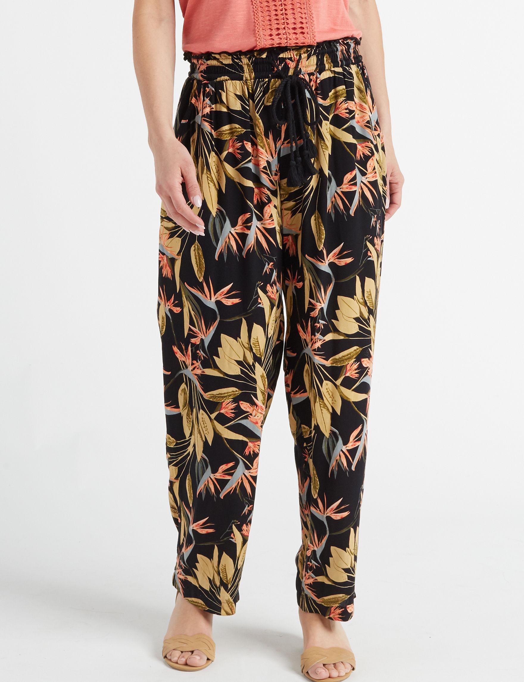 New Direction Black Multi Soft Pants