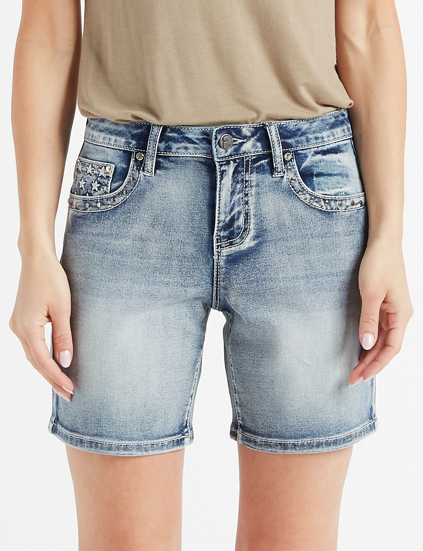 Earl Jean Blue Denim Shorts