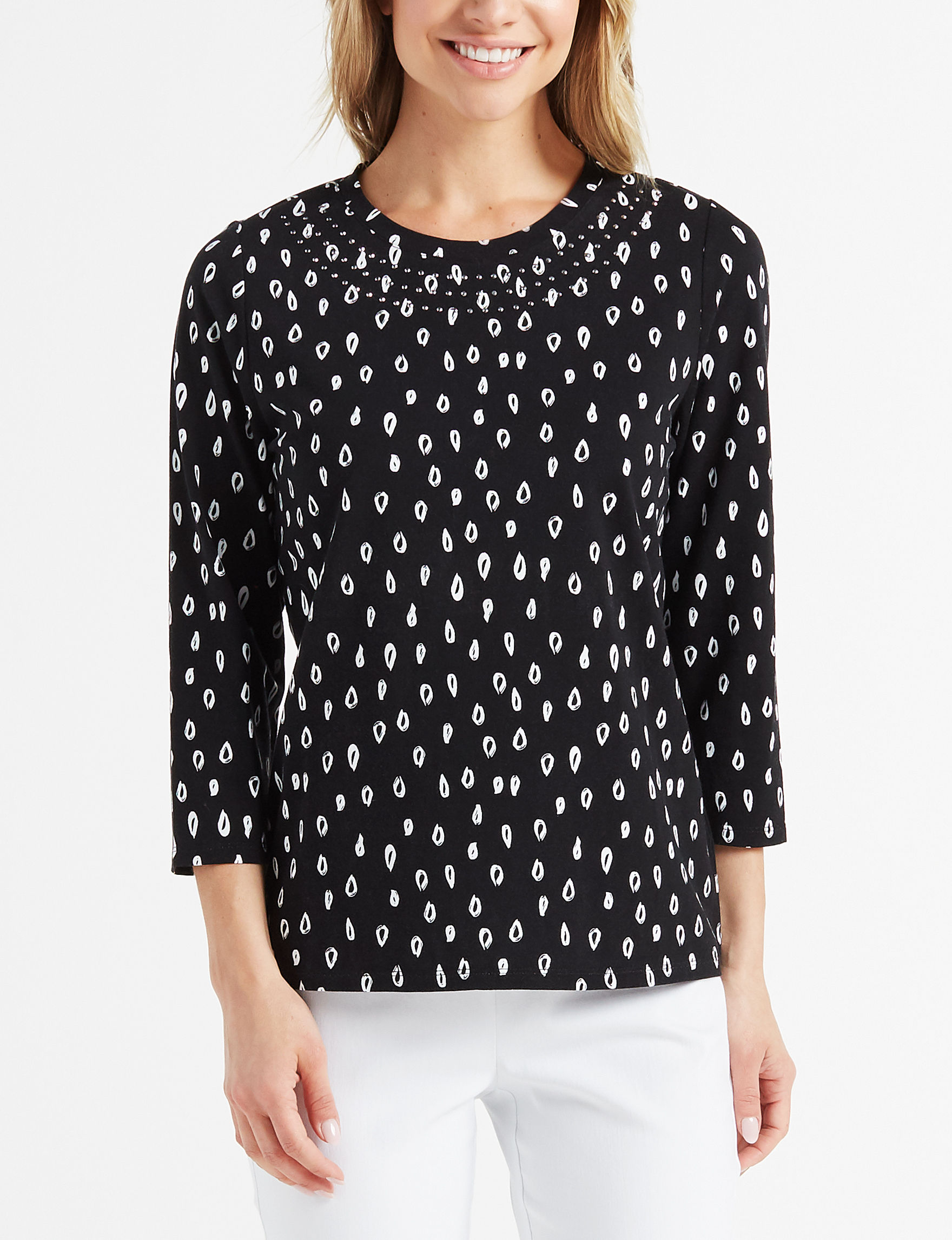 Rafaella Black / White Shirts & Blouses