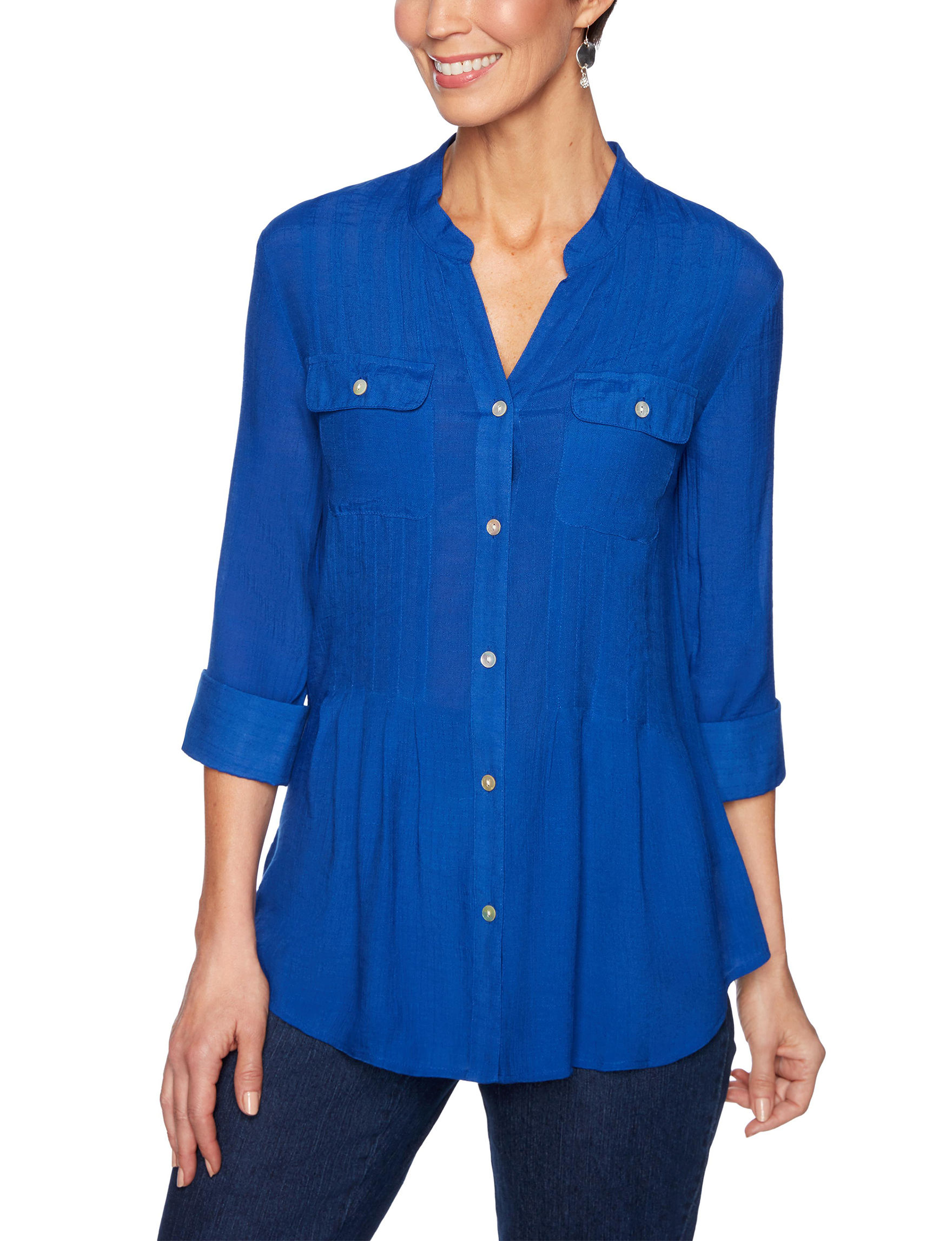 Ruby Road Royal Blue Shirts & Blouses