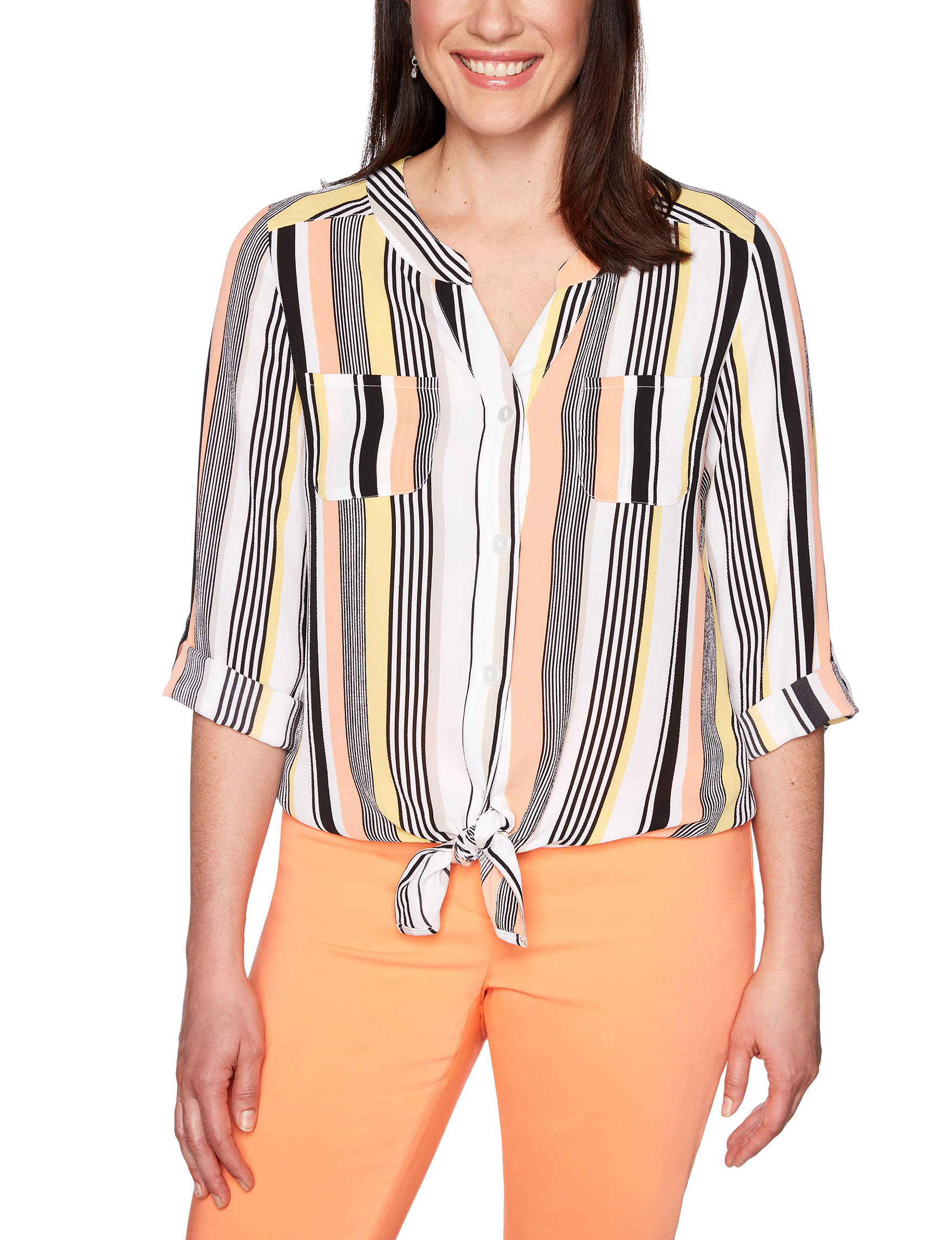 Ruby Road White / Coral Shirts & Blouses