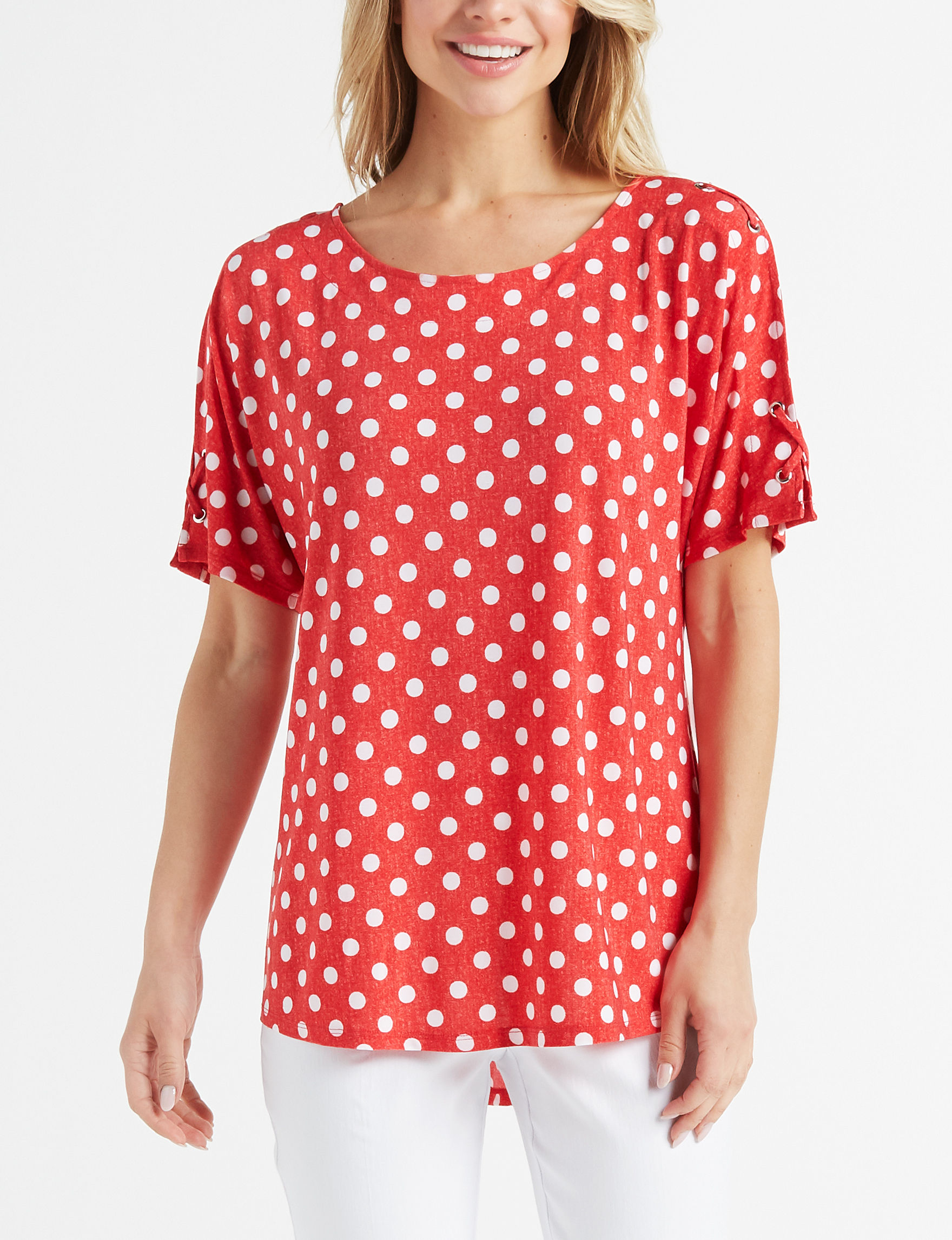 Cocomo Red / White Shirts & Blouses