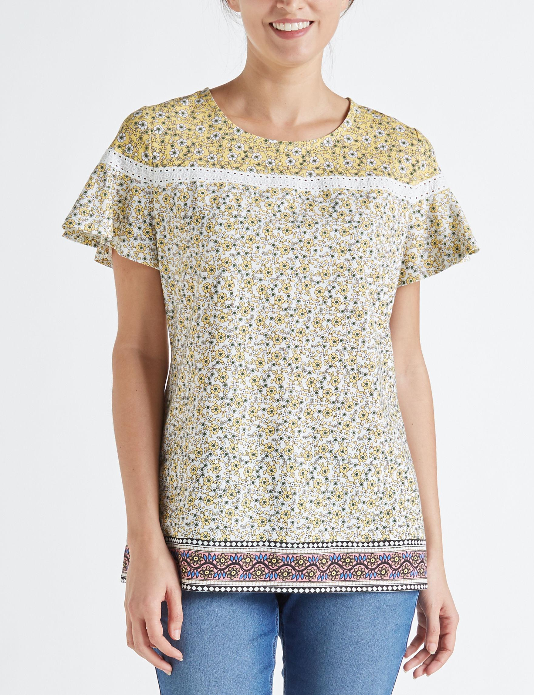 Hannah White / Yellow Shirts & Blouses