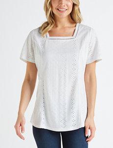 702d497497443 Doorbuster Hannah White Shirts   Blouses