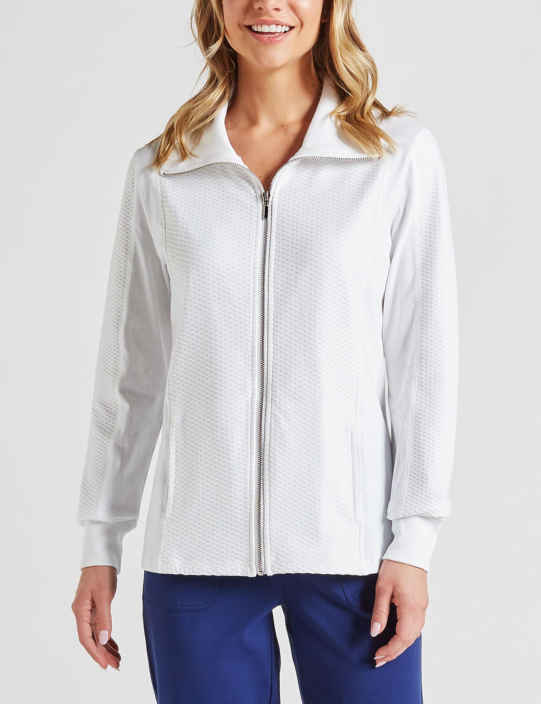 Onyx White Lightweight Jackets & Blazers