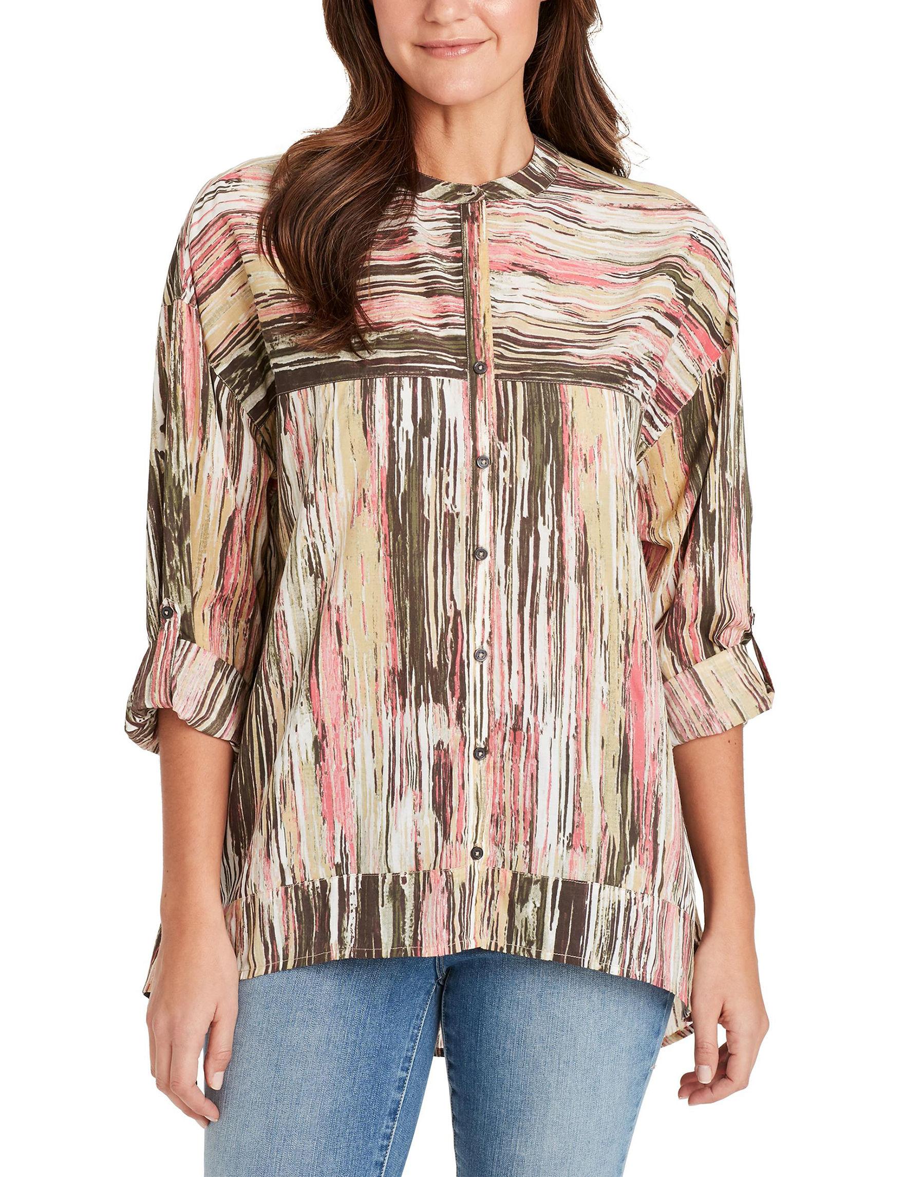 Nine West Brown / Multi Shirts & Blouses