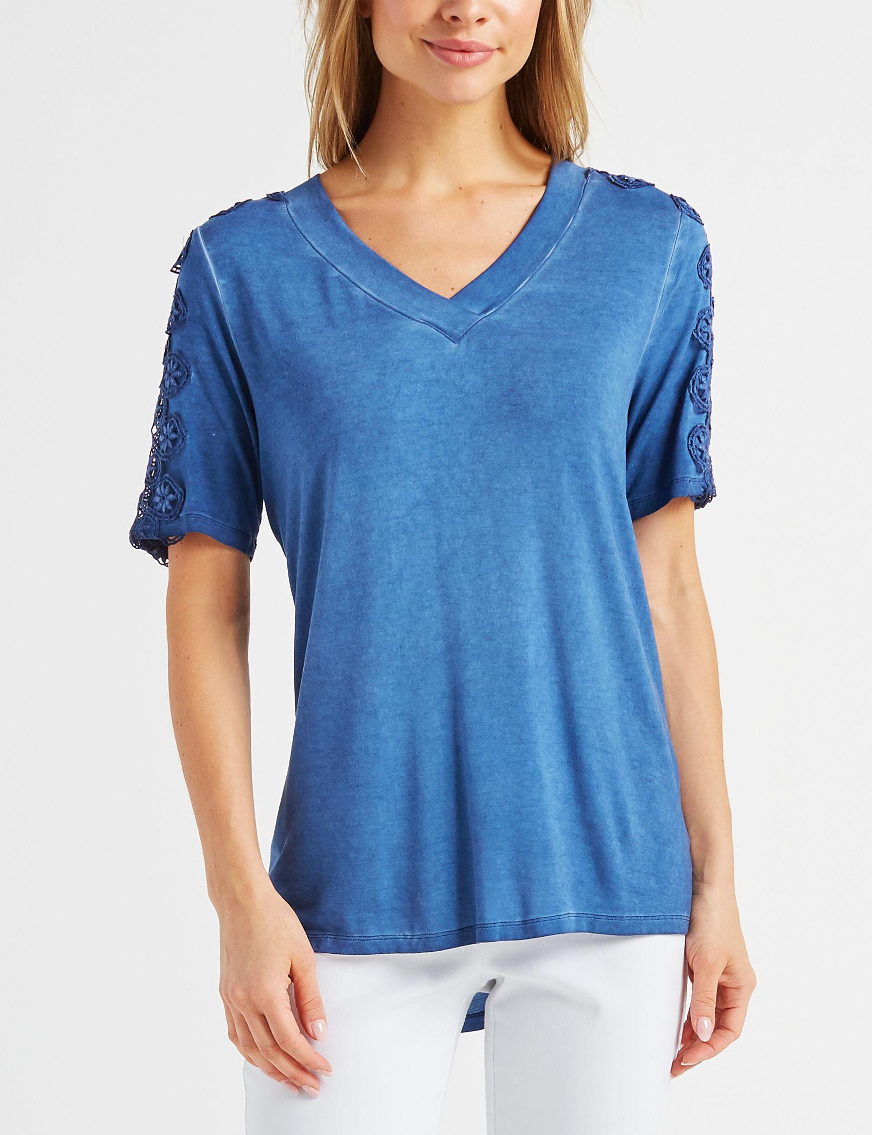 Como Blu Navy Shirts & Blouses