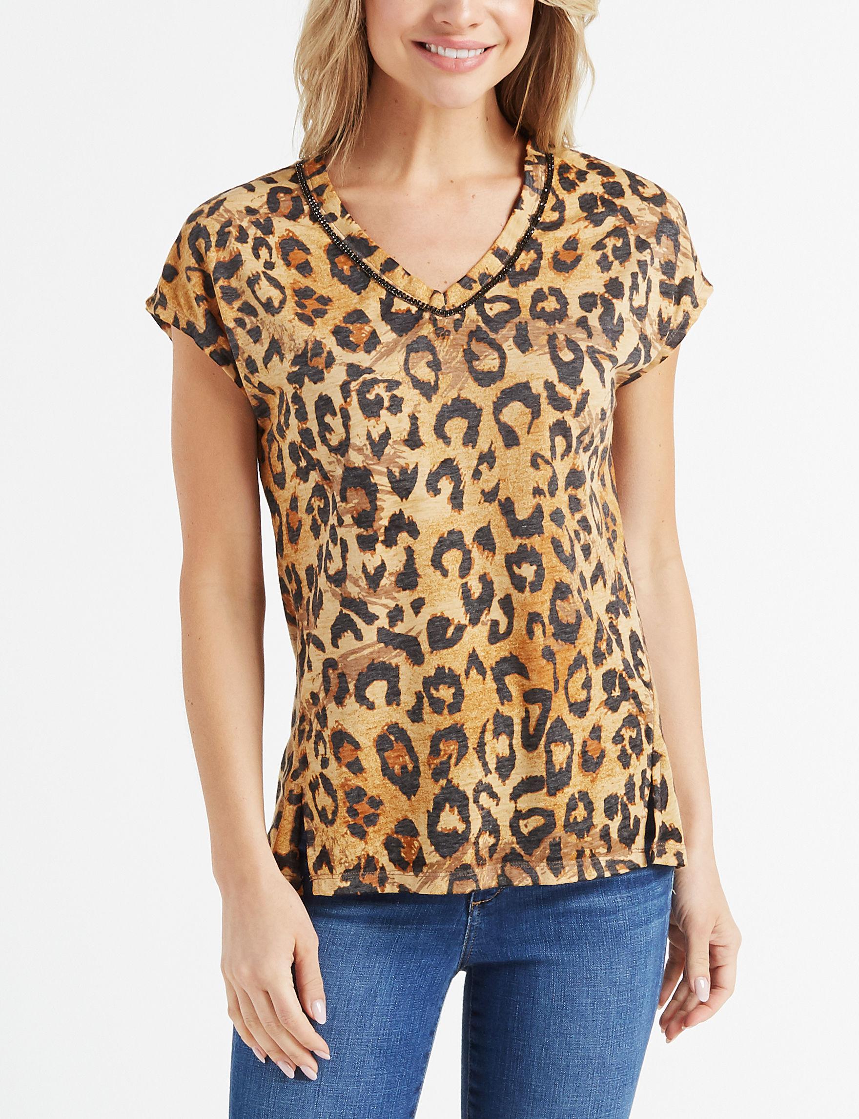 Como Blu Cheetah Shirts & Blouses