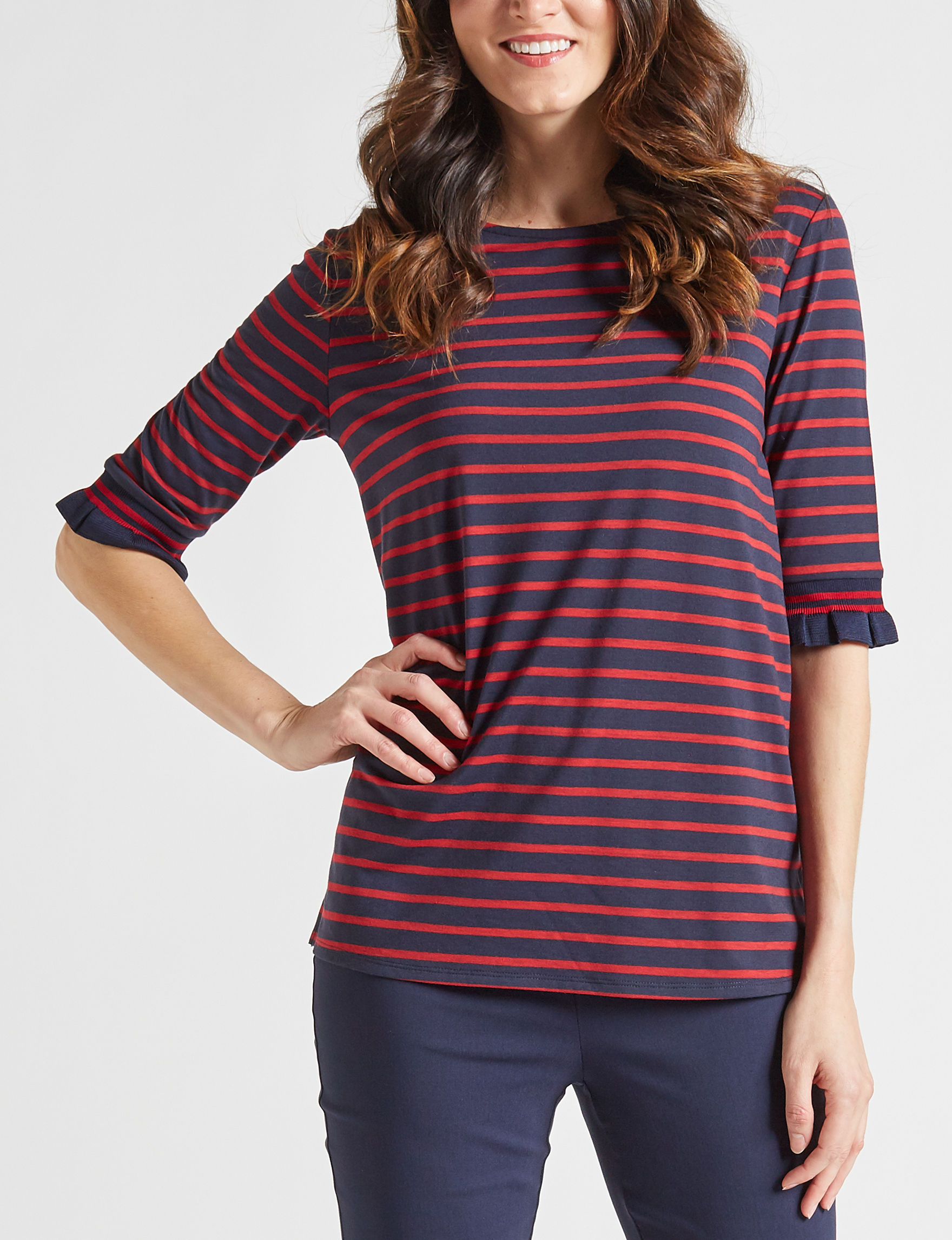 Fashion Avenue Navy / Red Shirts & Blouses