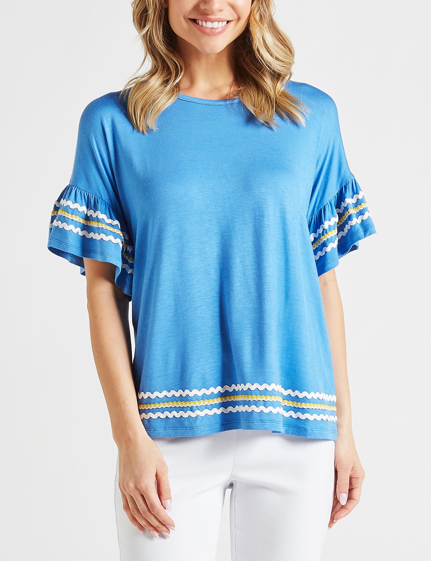 Fashion Avenue Blue Denim Shirts & Blouses
