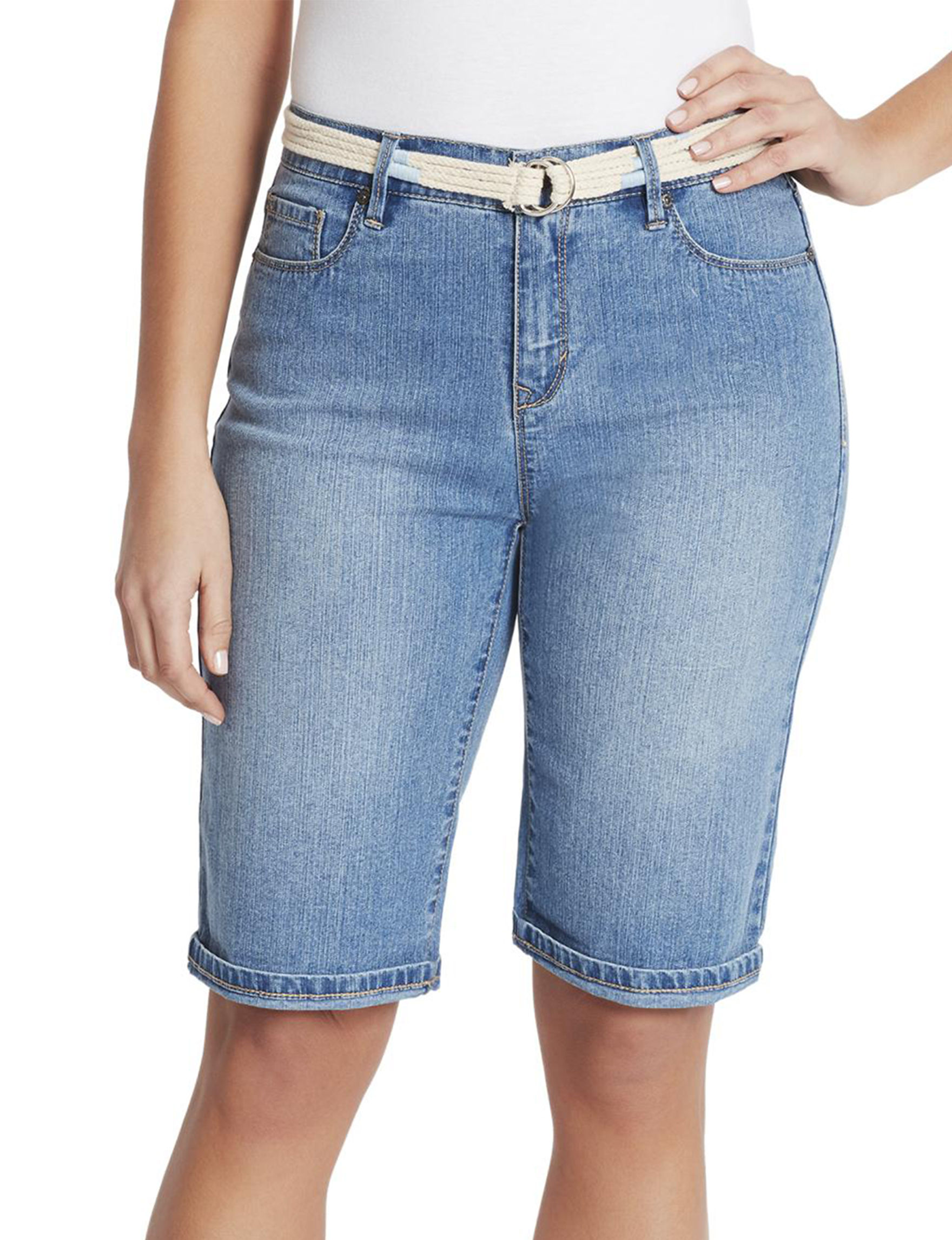 Gloria Vanderbilt Light Blue Bermudas Denim Shorts